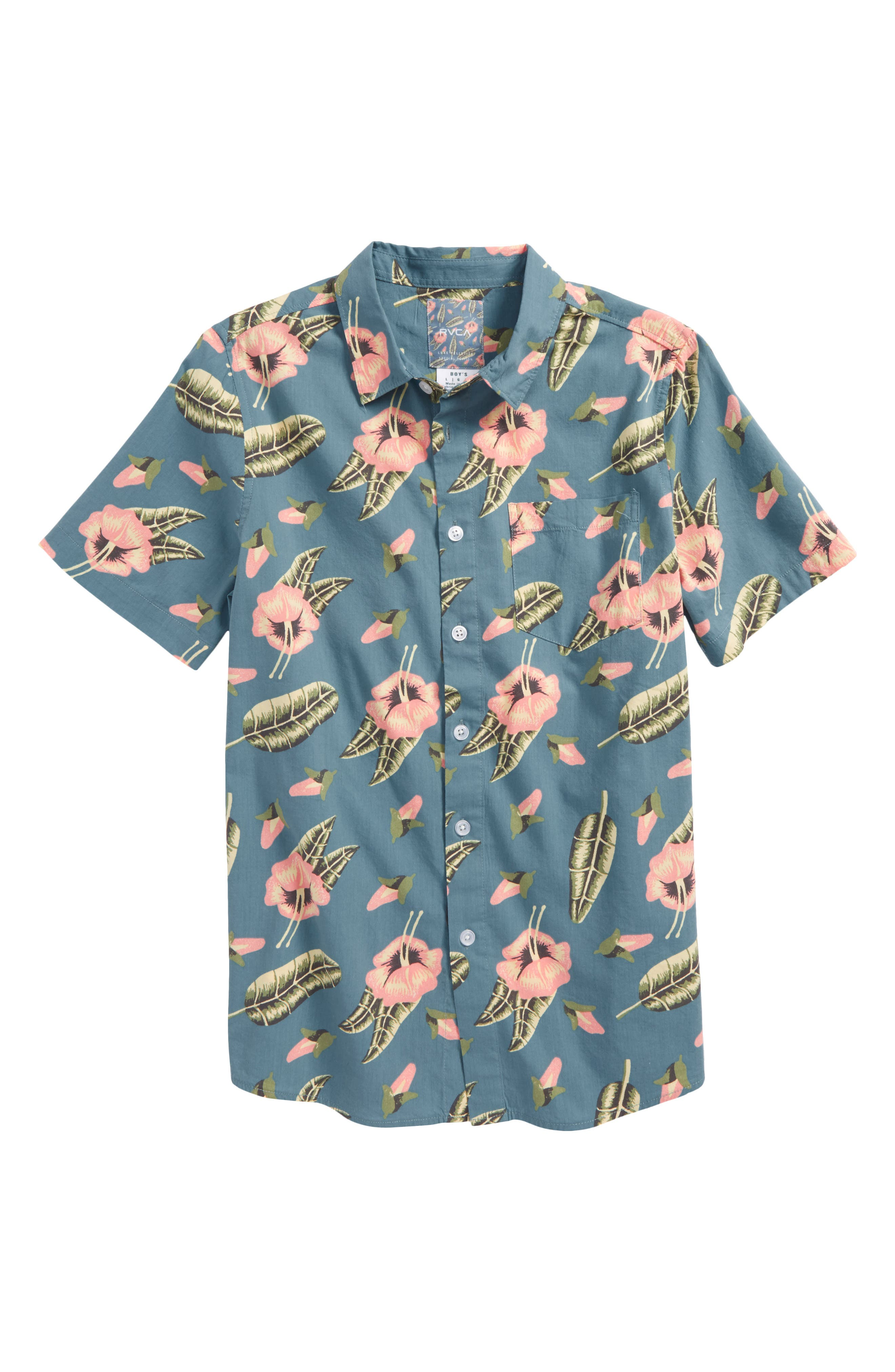 Pelletier Tropic Short Sleeve Camp Shirt,                         Main,                         color,