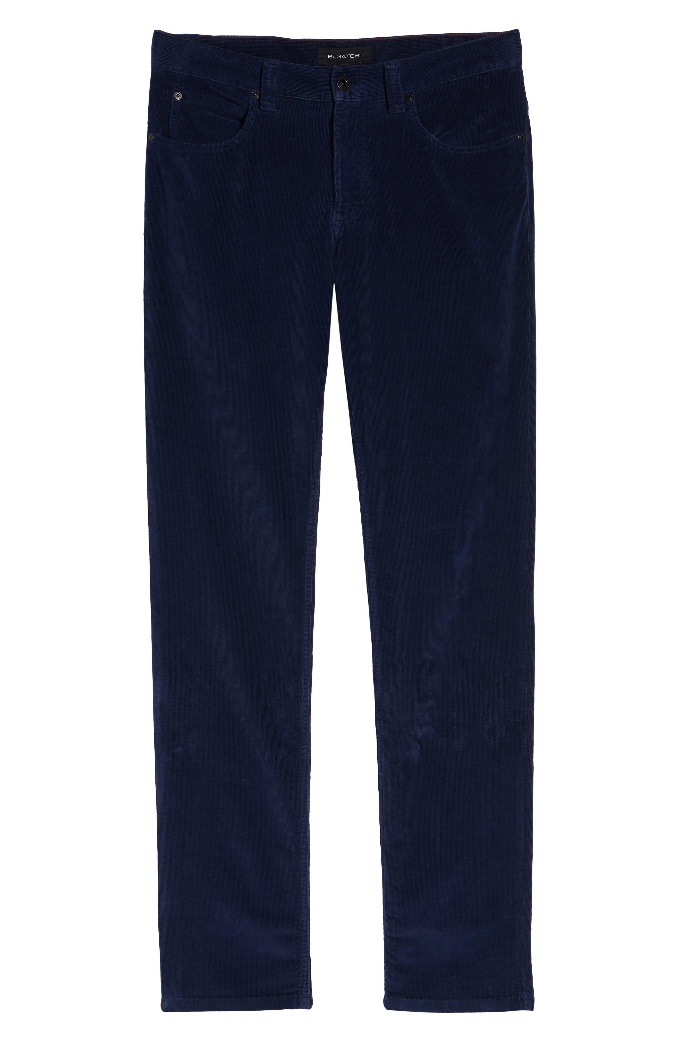 Slim Fit Corduroy Jeans,                             Alternate thumbnail 6, color,                             MIDNIGHT