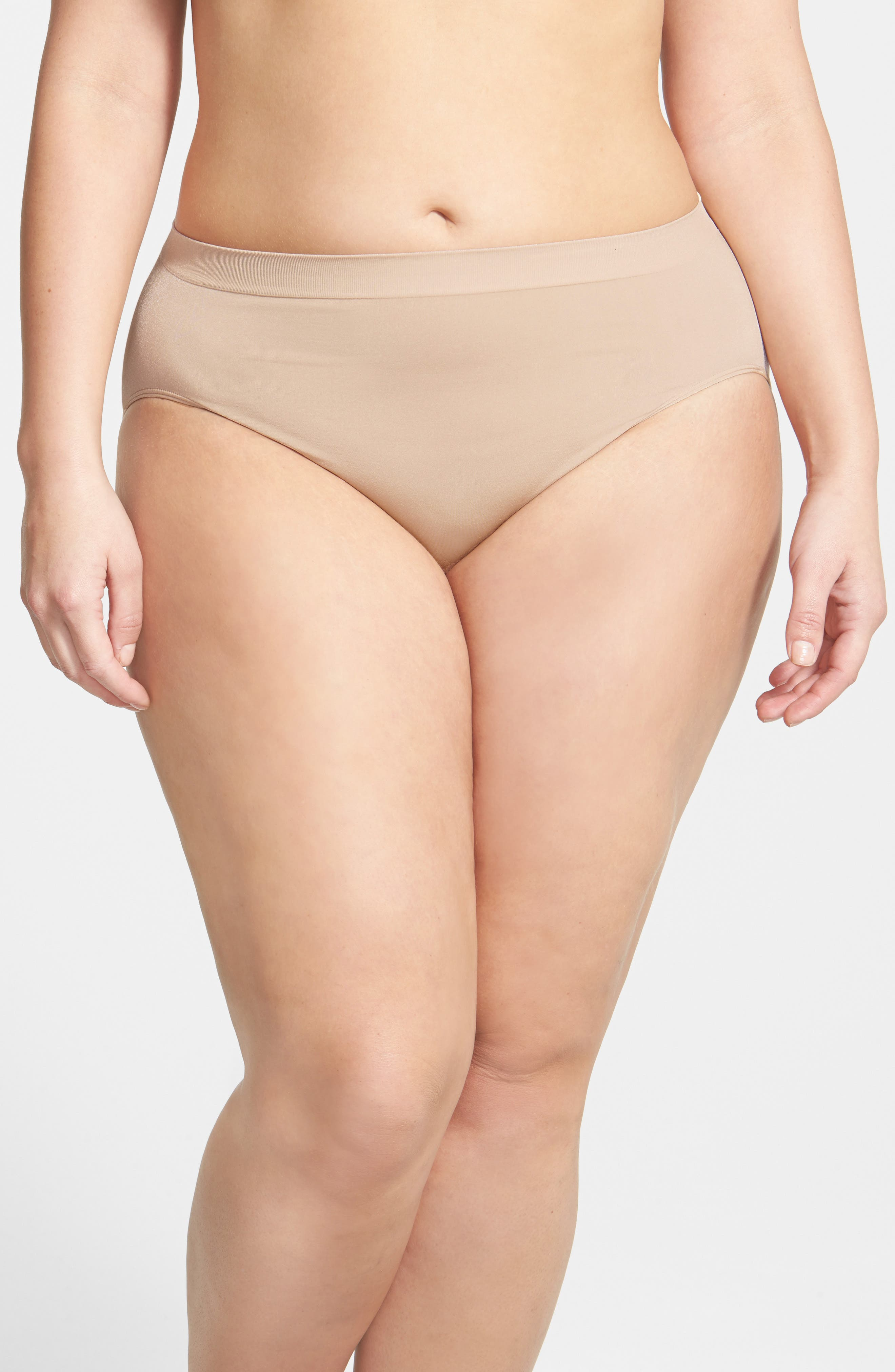 Smooth High Cut Briefs,                             Alternate thumbnail 4, color,                             NATURALLY NUDE