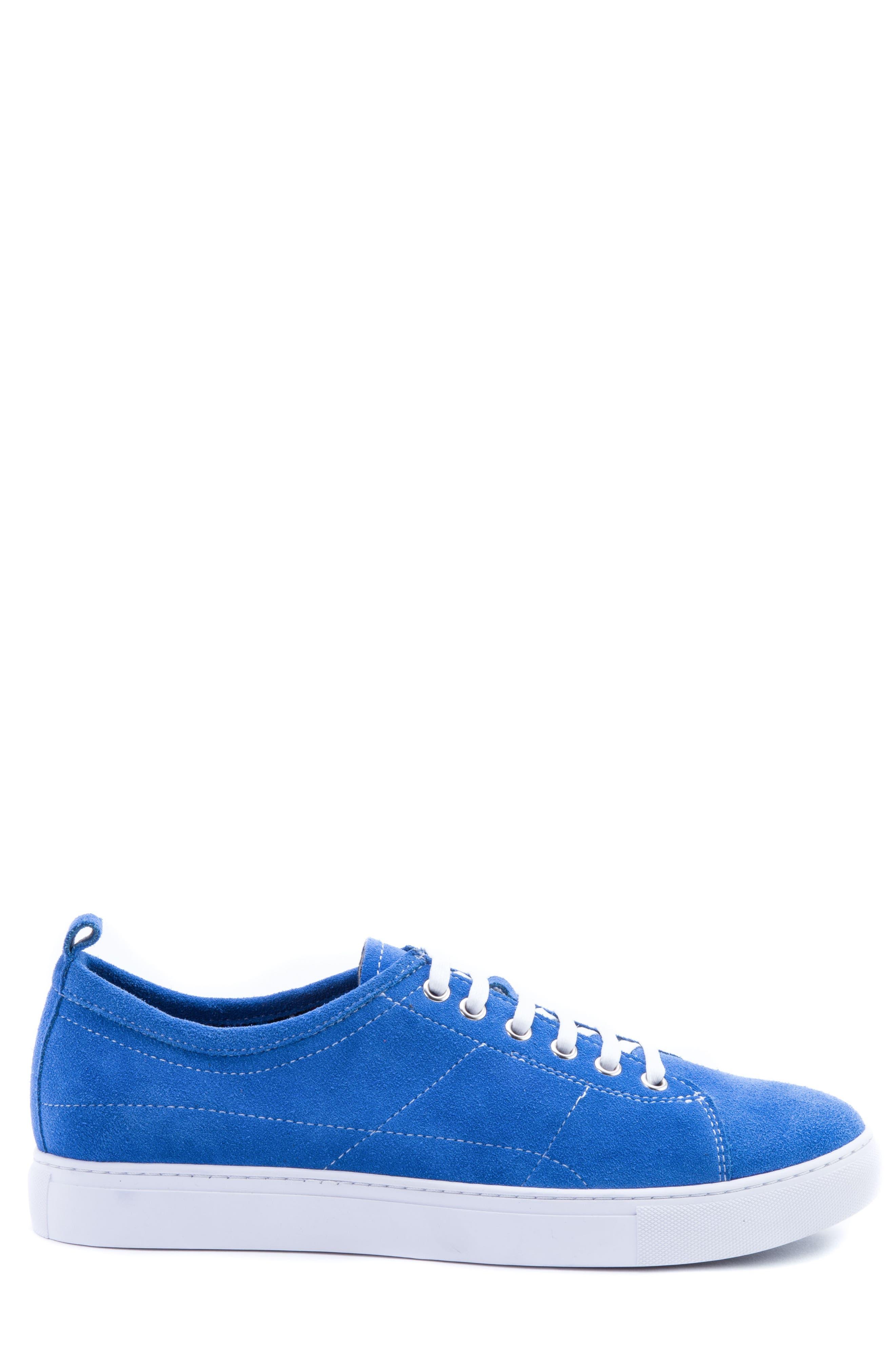 Ernesto Low Top Sneaker,                             Alternate thumbnail 3, color,                             ROYAL SUEDE