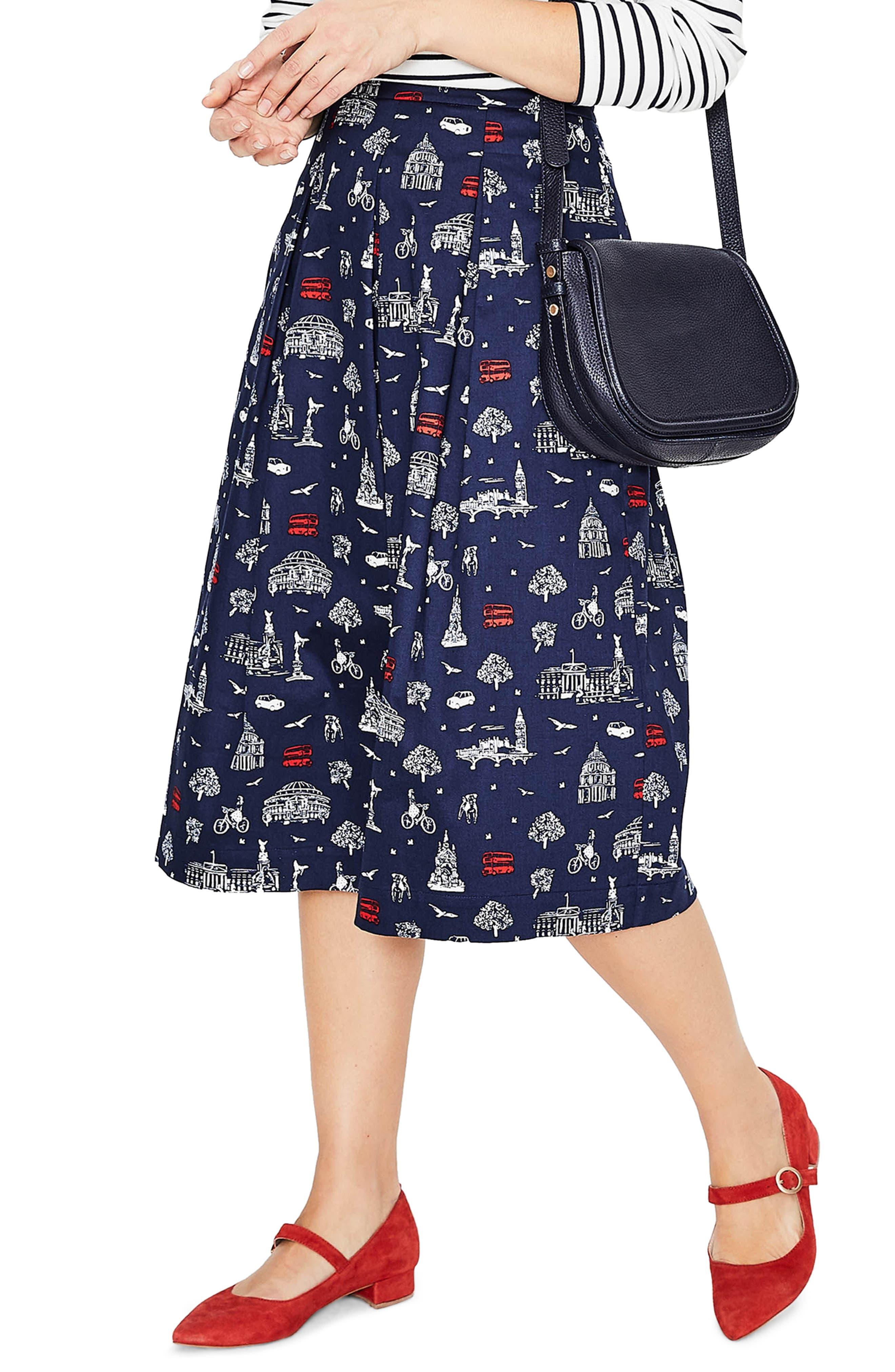 Lola Floral Flared Skirt,                             Alternate thumbnail 13, color,