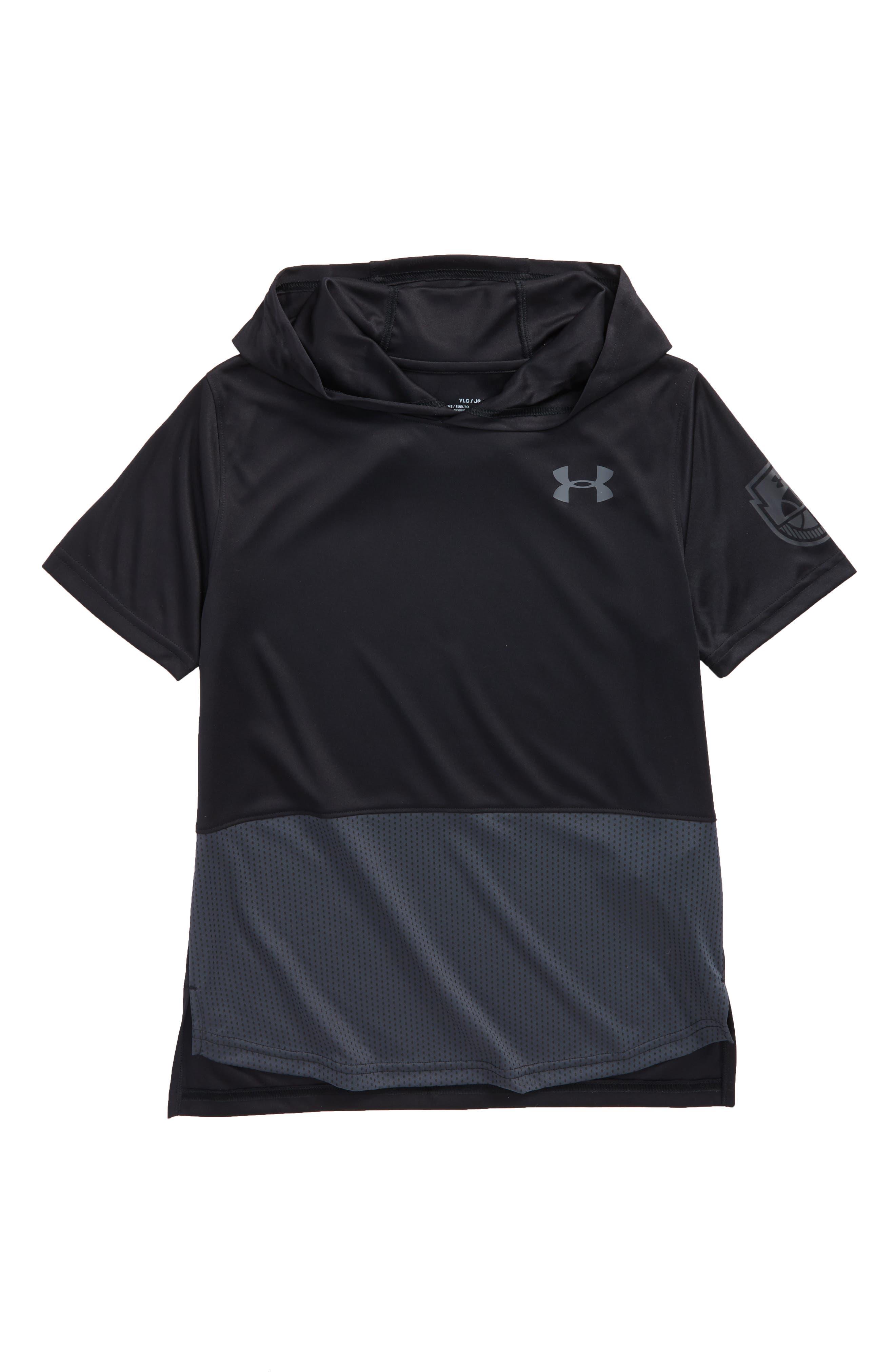 Baseline HeatGear<sup>®</sup> Hooded T-Shirt,                         Main,                         color, 001