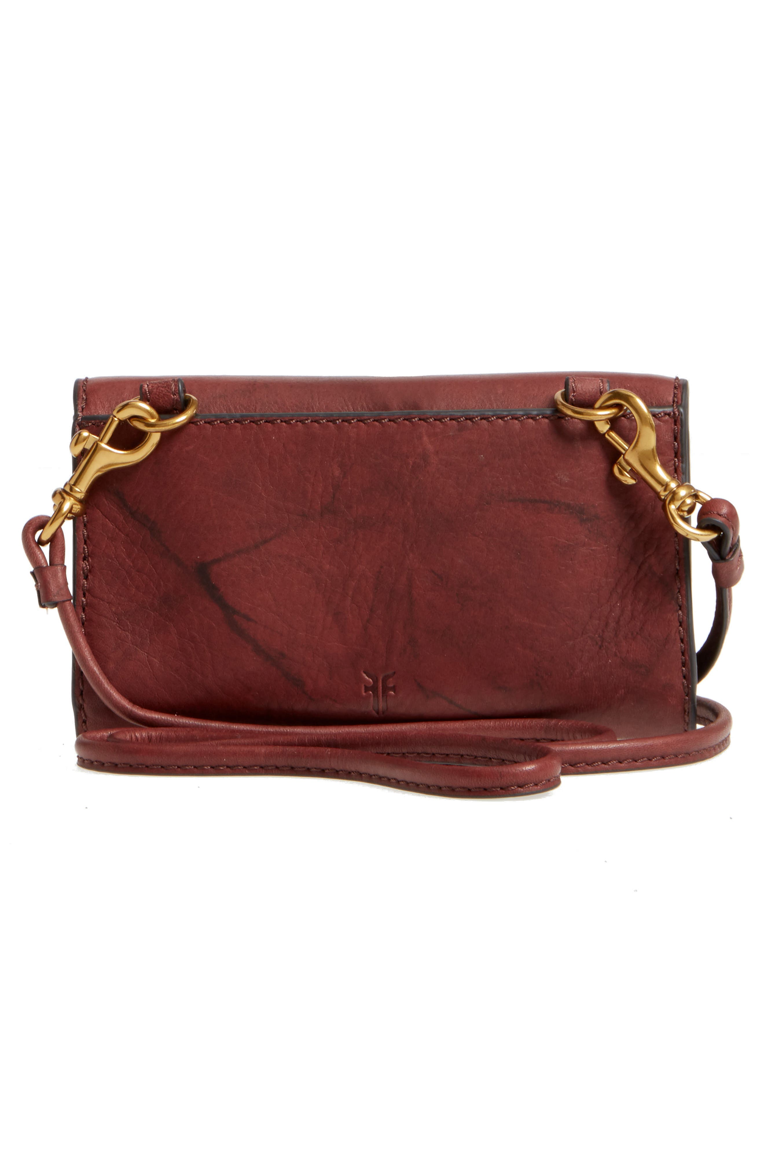 Campus Rivet Leather Smartphone Wallet with Crossbody Strap,                             Alternate thumbnail 7, color,