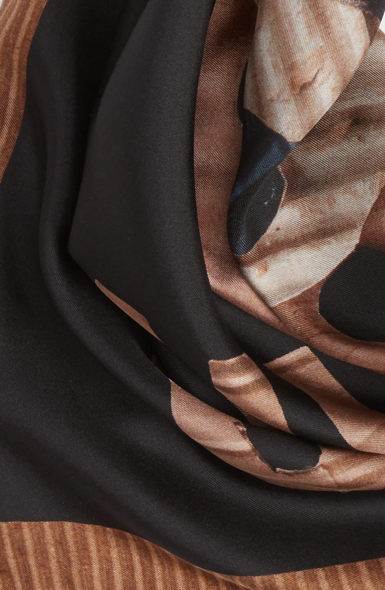 Foulard Silk Square Scarf,                             Alternate thumbnail 4, color,                             001