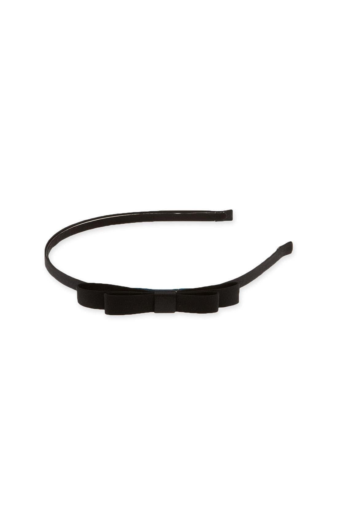 'Skinny Bow' Headband,                             Main thumbnail 1, color,                             001
