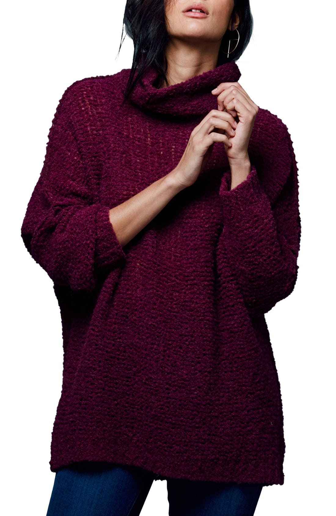 'She's All That' Knit Turtleneck Sweater,                             Main thumbnail 4, color,