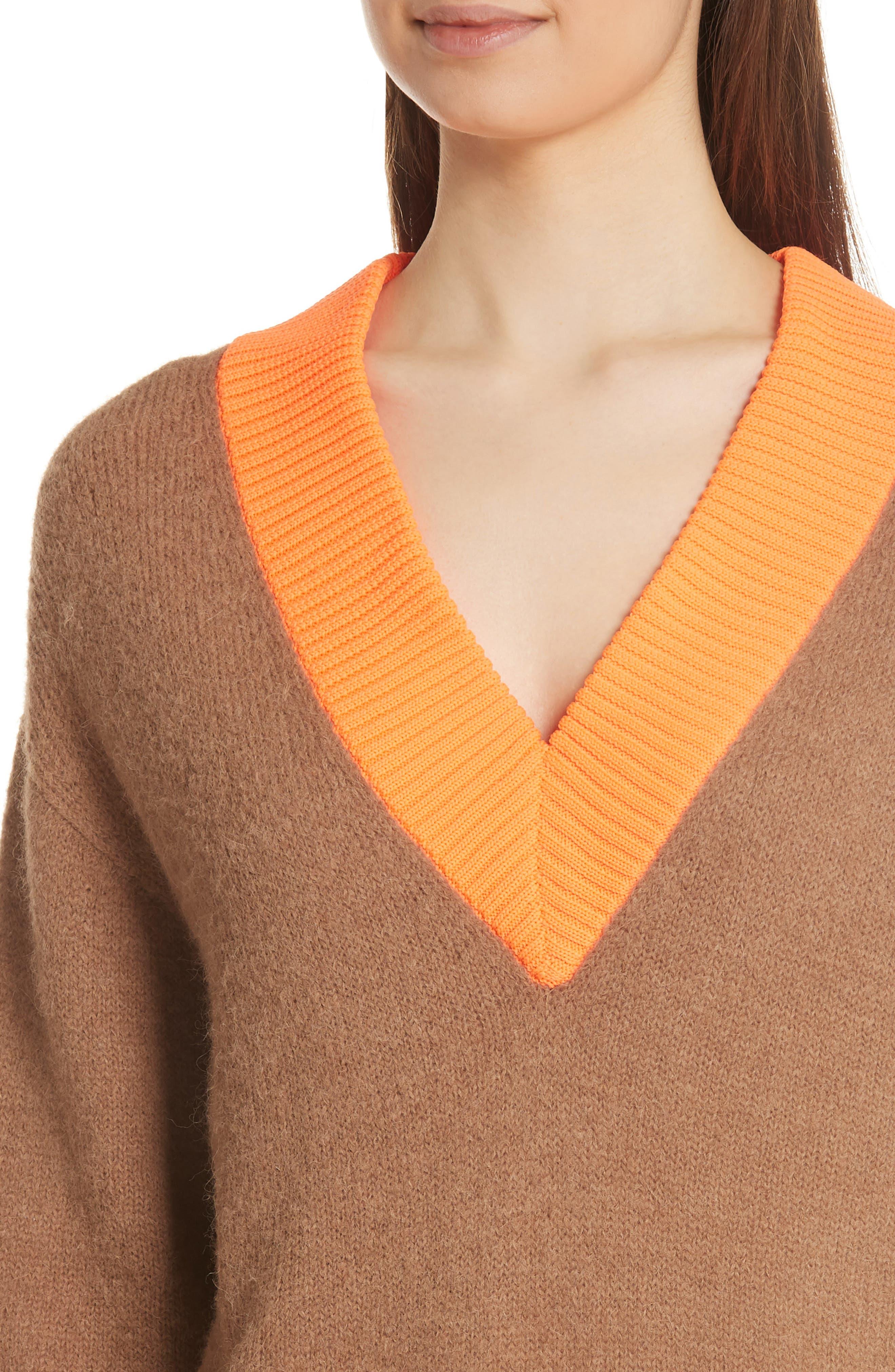 Airy Alpaca Blend Sweater,                             Alternate thumbnail 4, color,                             205