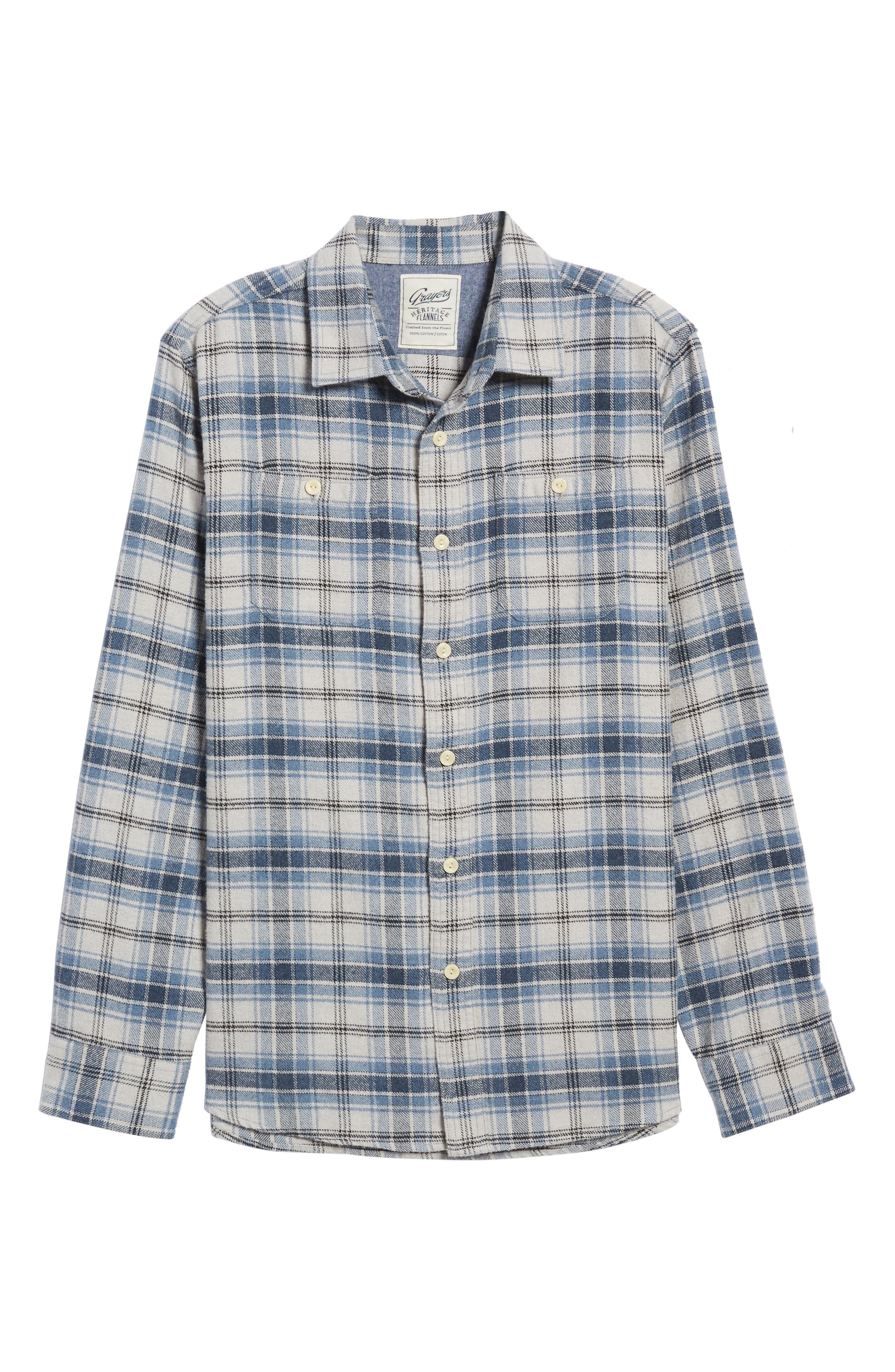 Campton Heritage Plaid Flannel Shirt,                             Alternate thumbnail 6, color,                             464