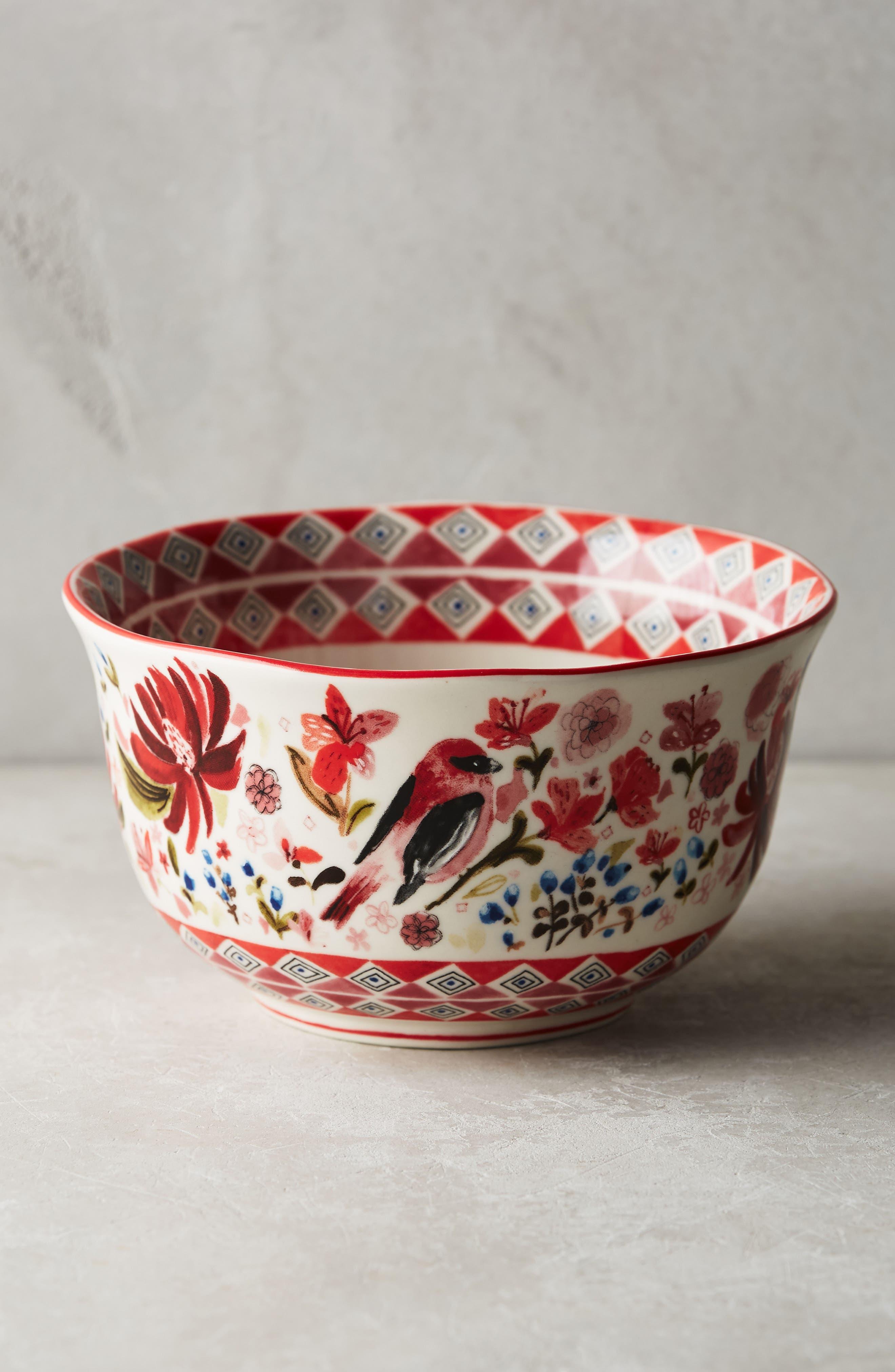 Wing & Petal Stoneware Bowl,                             Alternate thumbnail 6, color,