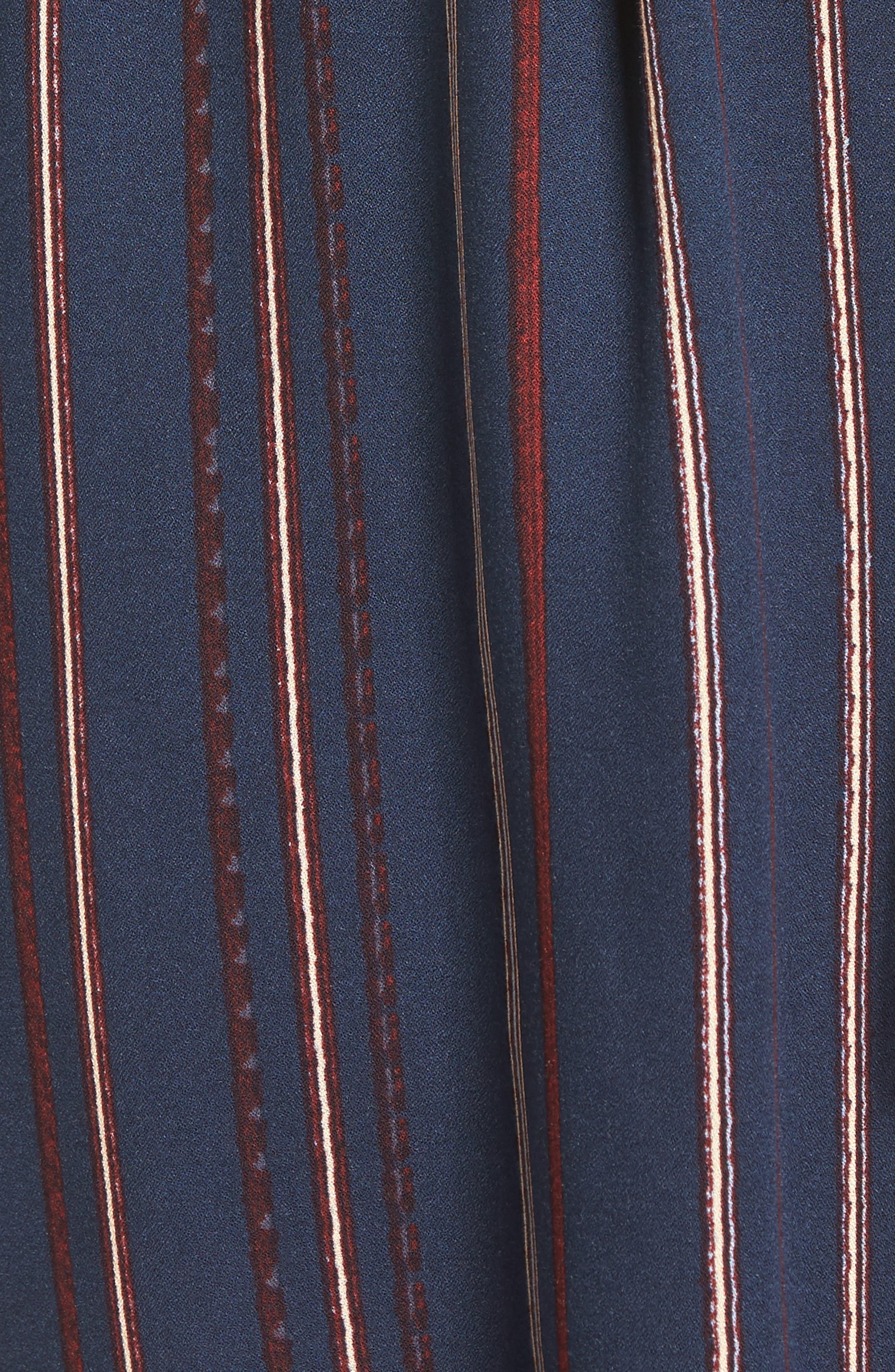 ---,                             Stripe Off the Shoulder Shirtdress,                             Alternate thumbnail 5, color,                             400