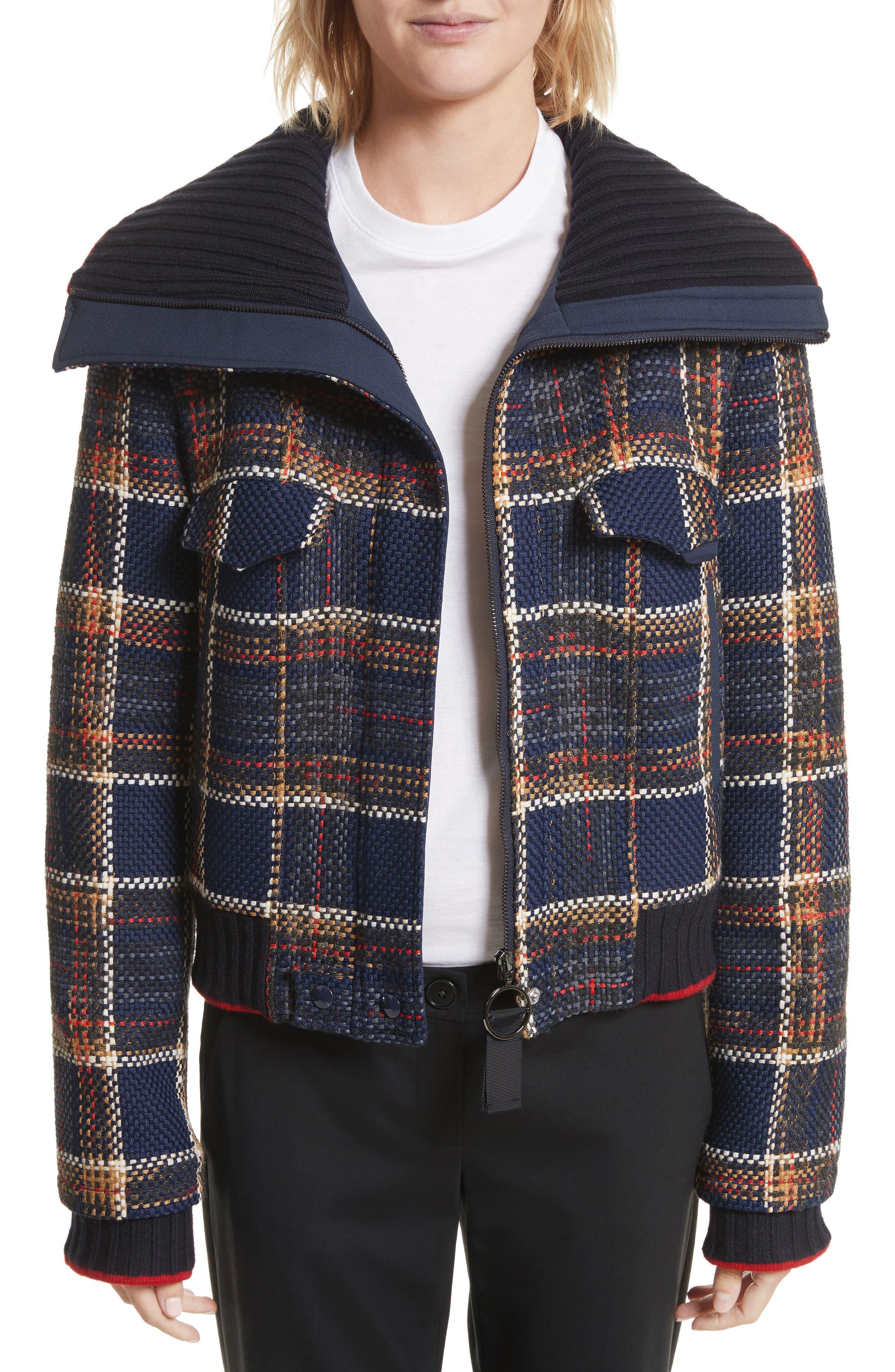 Crop Tweed Jacket,                             Main thumbnail 1, color,                             493