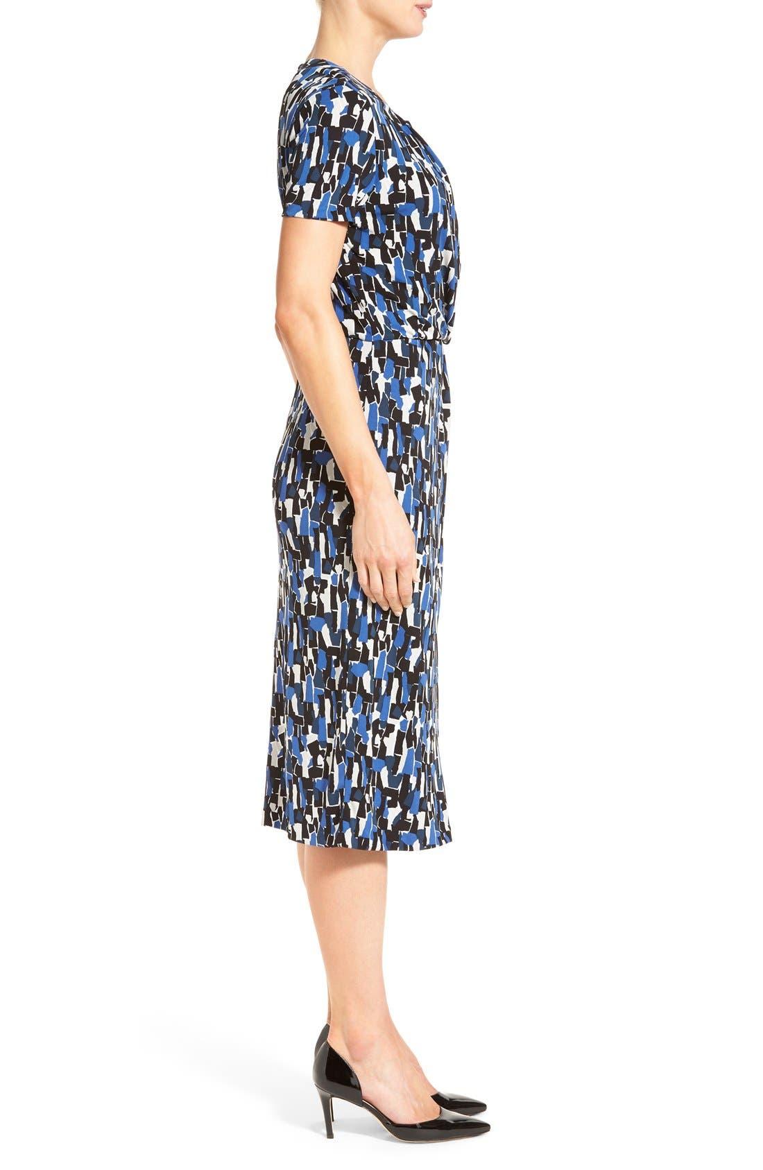 'Enedita' Mosaic Print Faux Wrap Jersey Dress,                             Alternate thumbnail 5, color,                             477