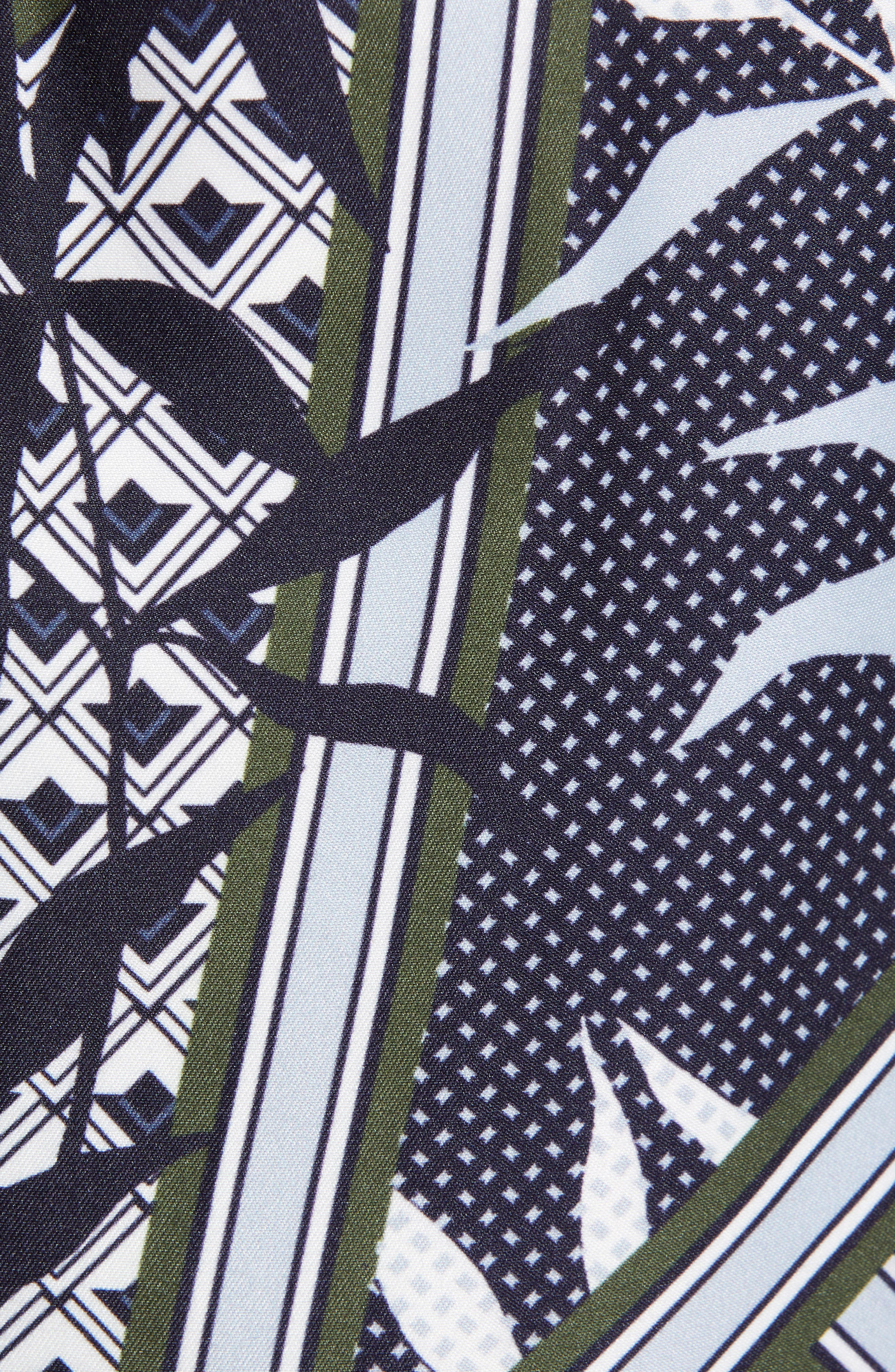TED BAKER LONDON,                             Plecoe Slim Fit Floral Print Swim Trunks,                             Alternate thumbnail 5, color,                             410
