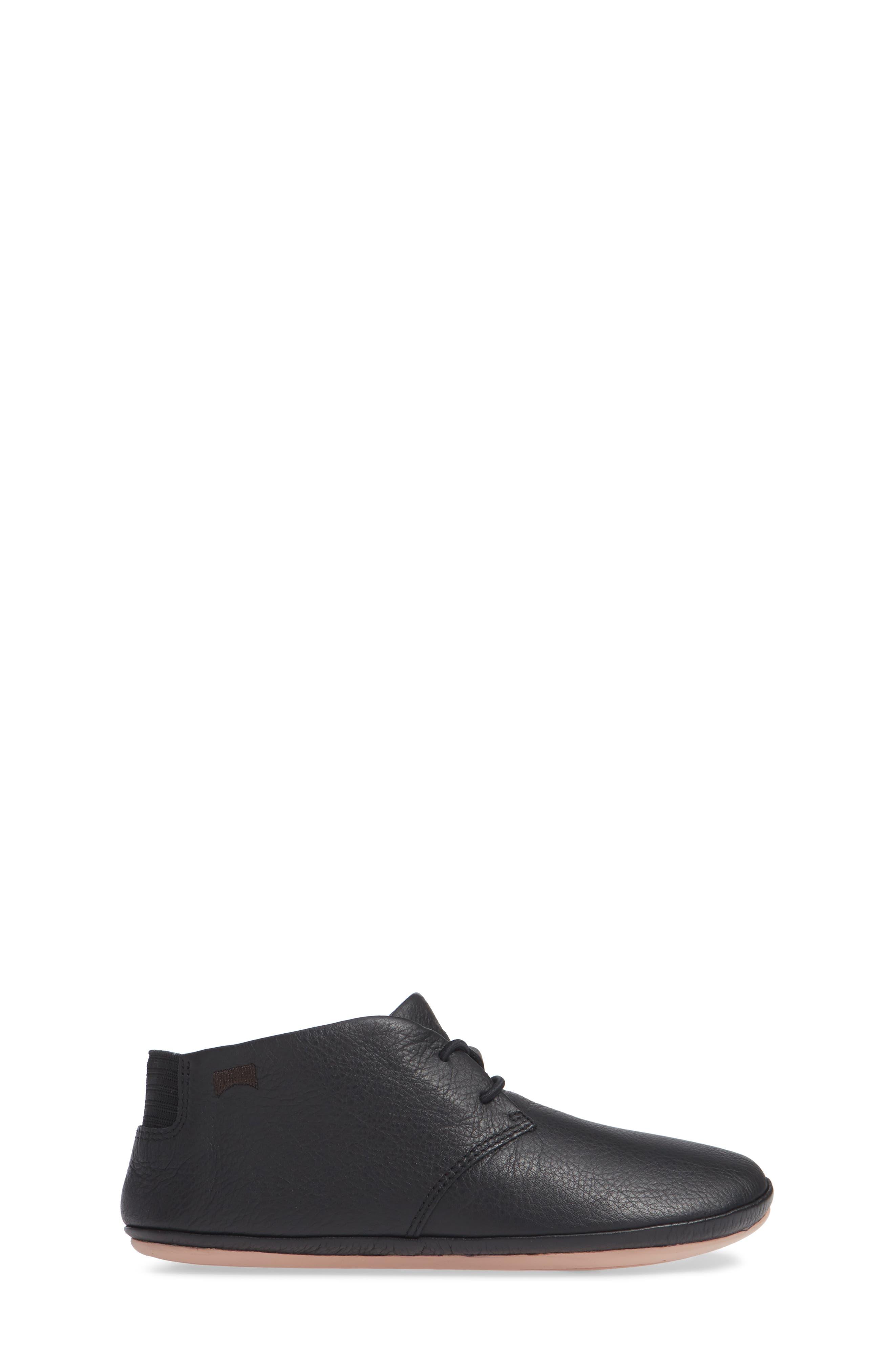 Right Kids Desert Shoe,                             Alternate thumbnail 3, color,                             BLACK