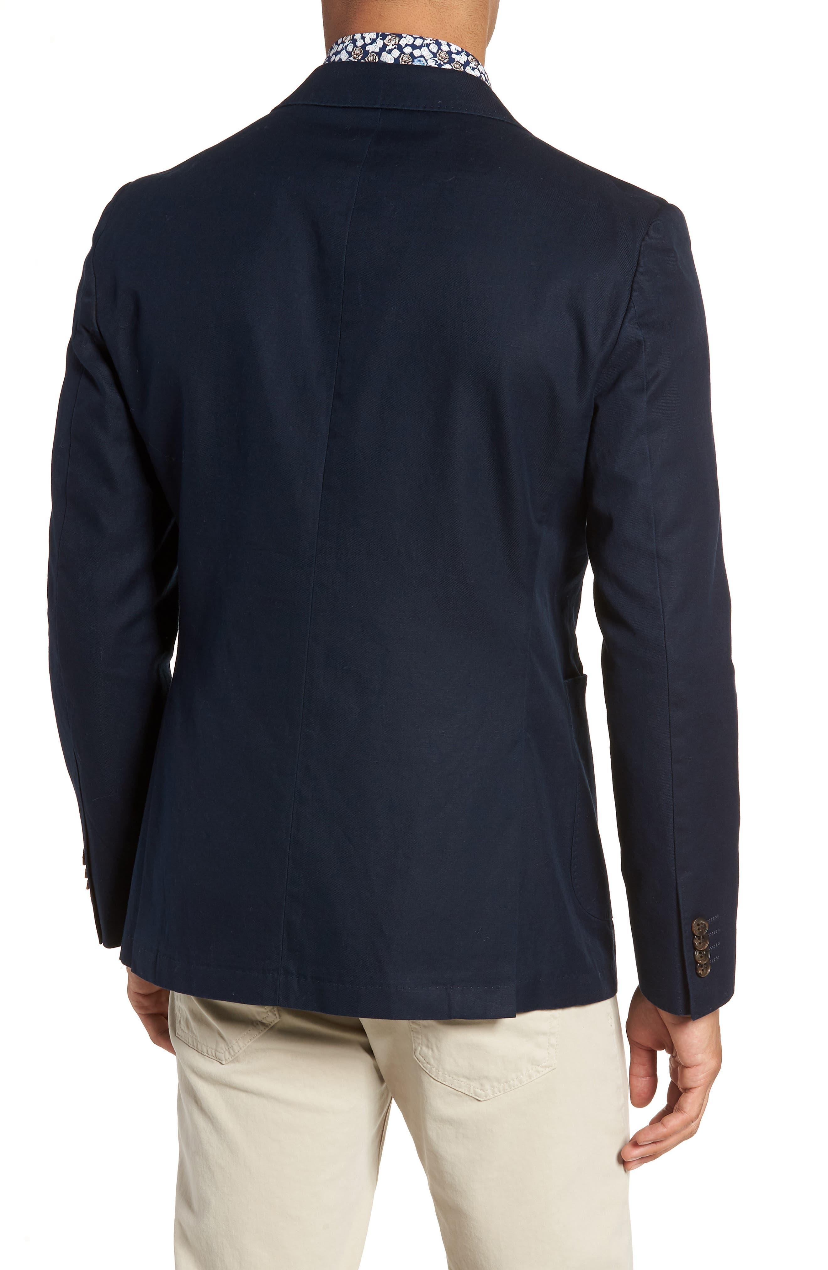 Maxwell Valley Cotton & Linen Sport Coat,                             Alternate thumbnail 2, color,                             MIDNIGHT