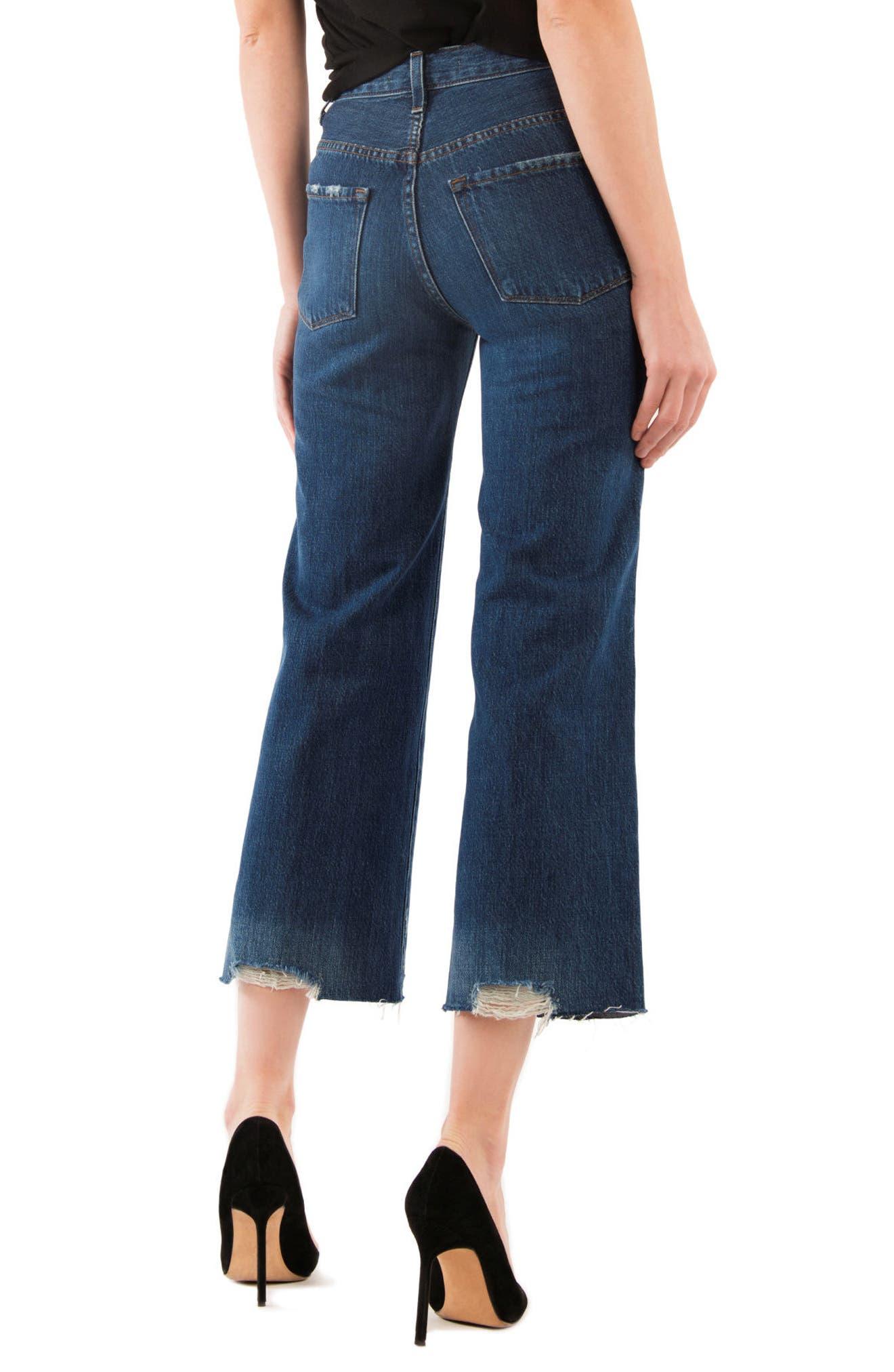 Joan High Waist Crop Wide Leg Jeans,                             Alternate thumbnail 2, color,                             469