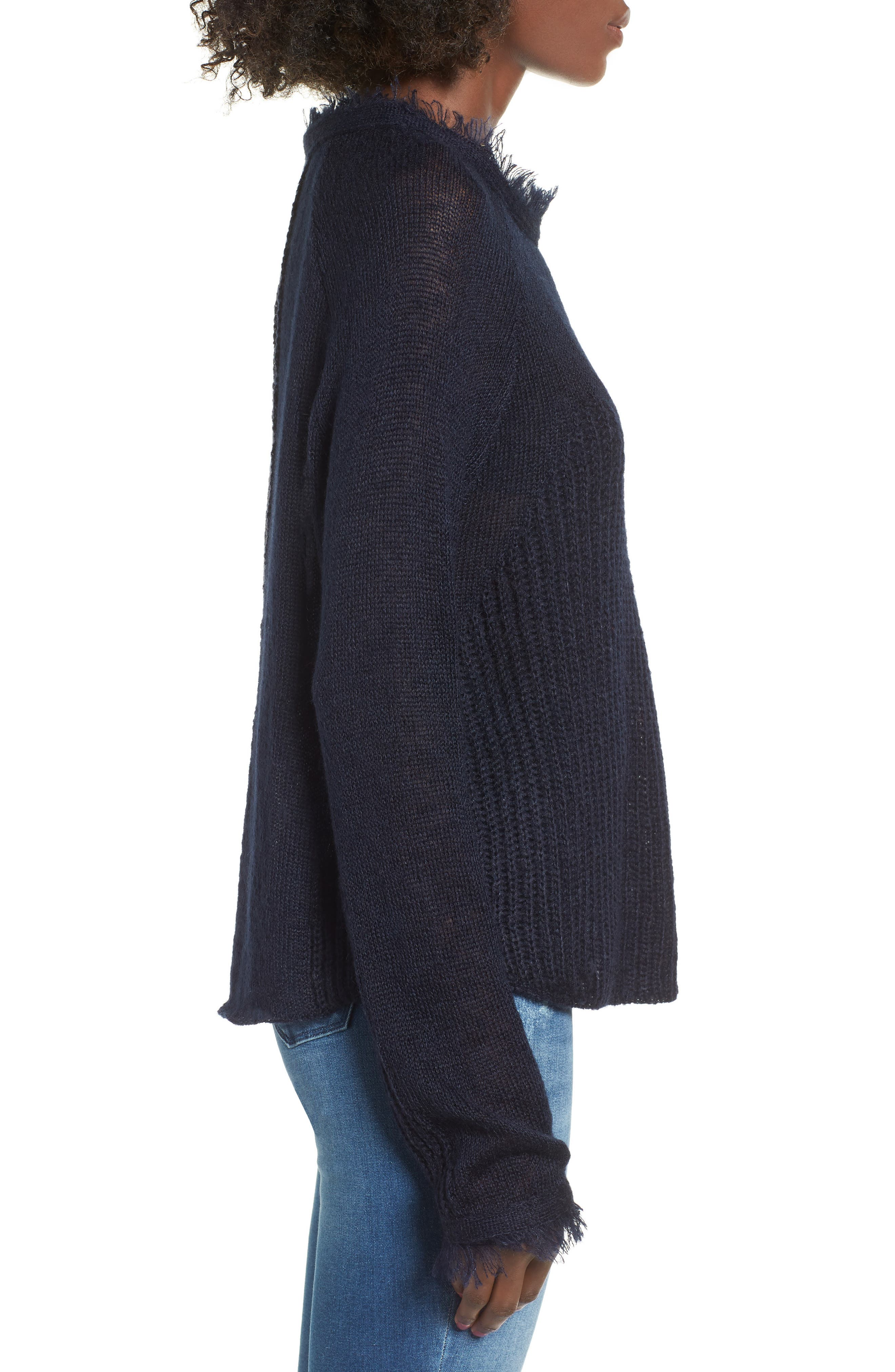 Fringed Sweater,                             Alternate thumbnail 3, color,                             400