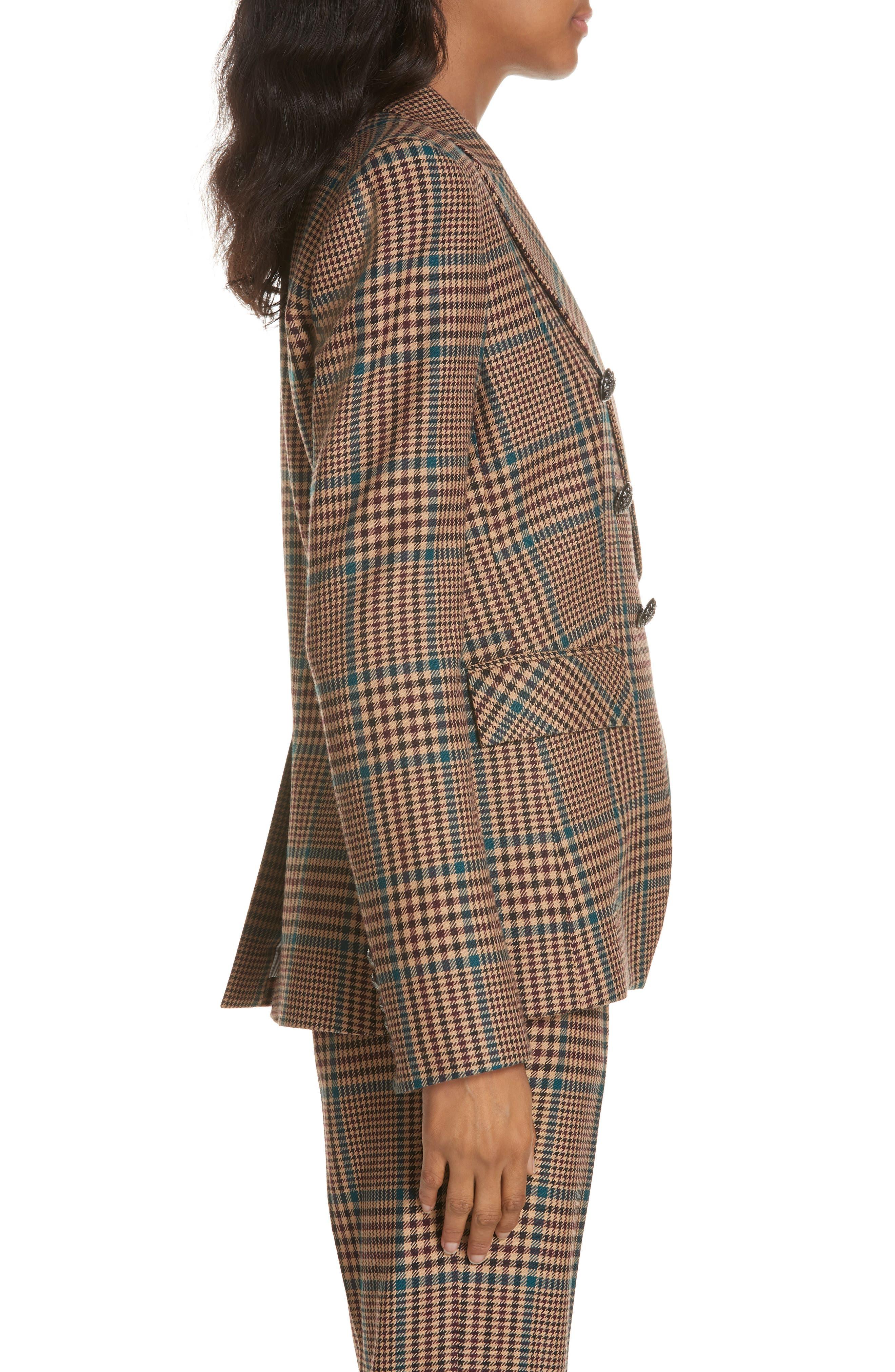 Miller Wool Blend Dickey Jacket,                             Alternate thumbnail 3, color,                             PETROL MULTI