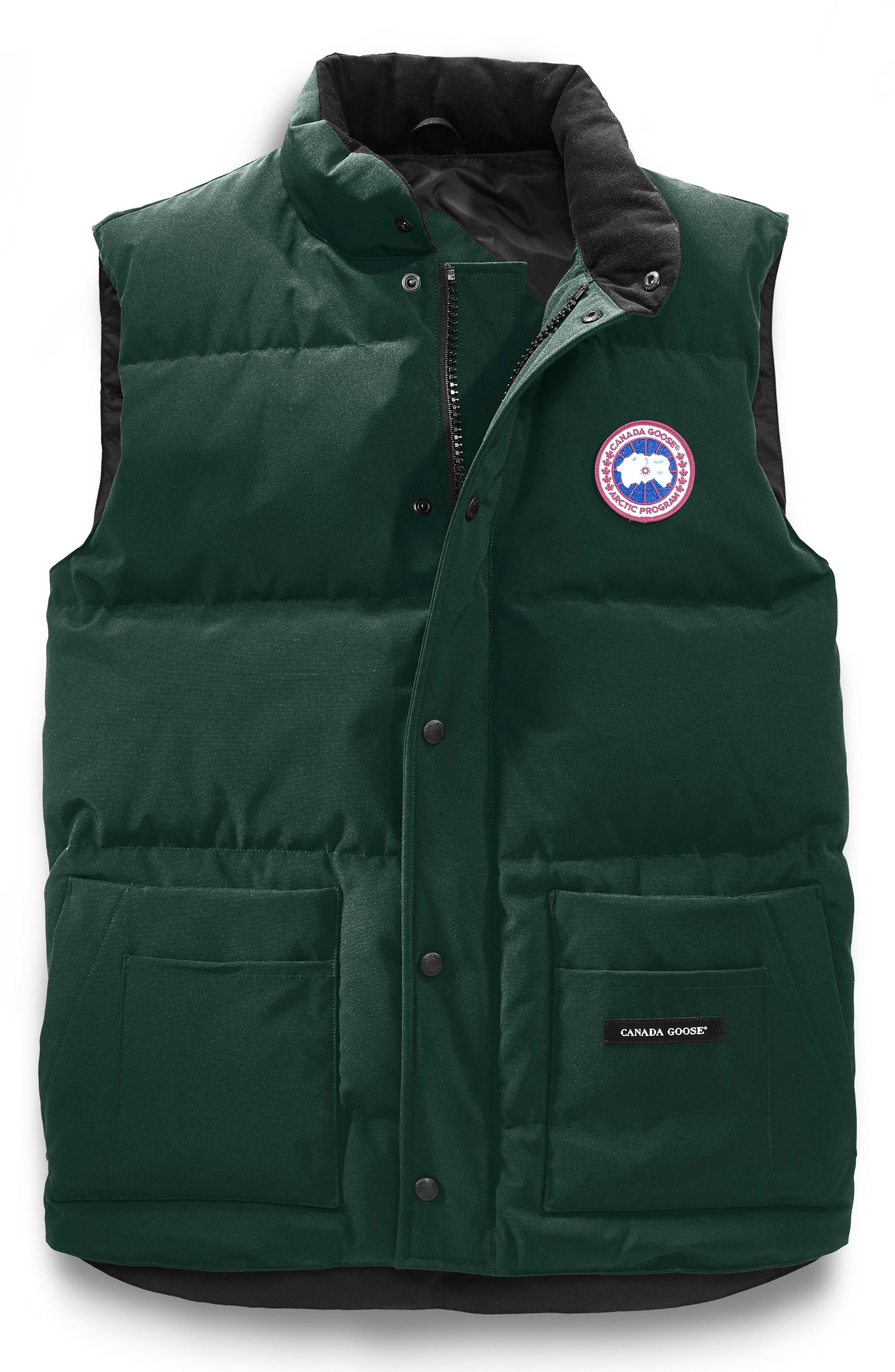 Freestyle Regular Fit Down Vest,                             Alternate thumbnail 4, color,                             SPRUCE