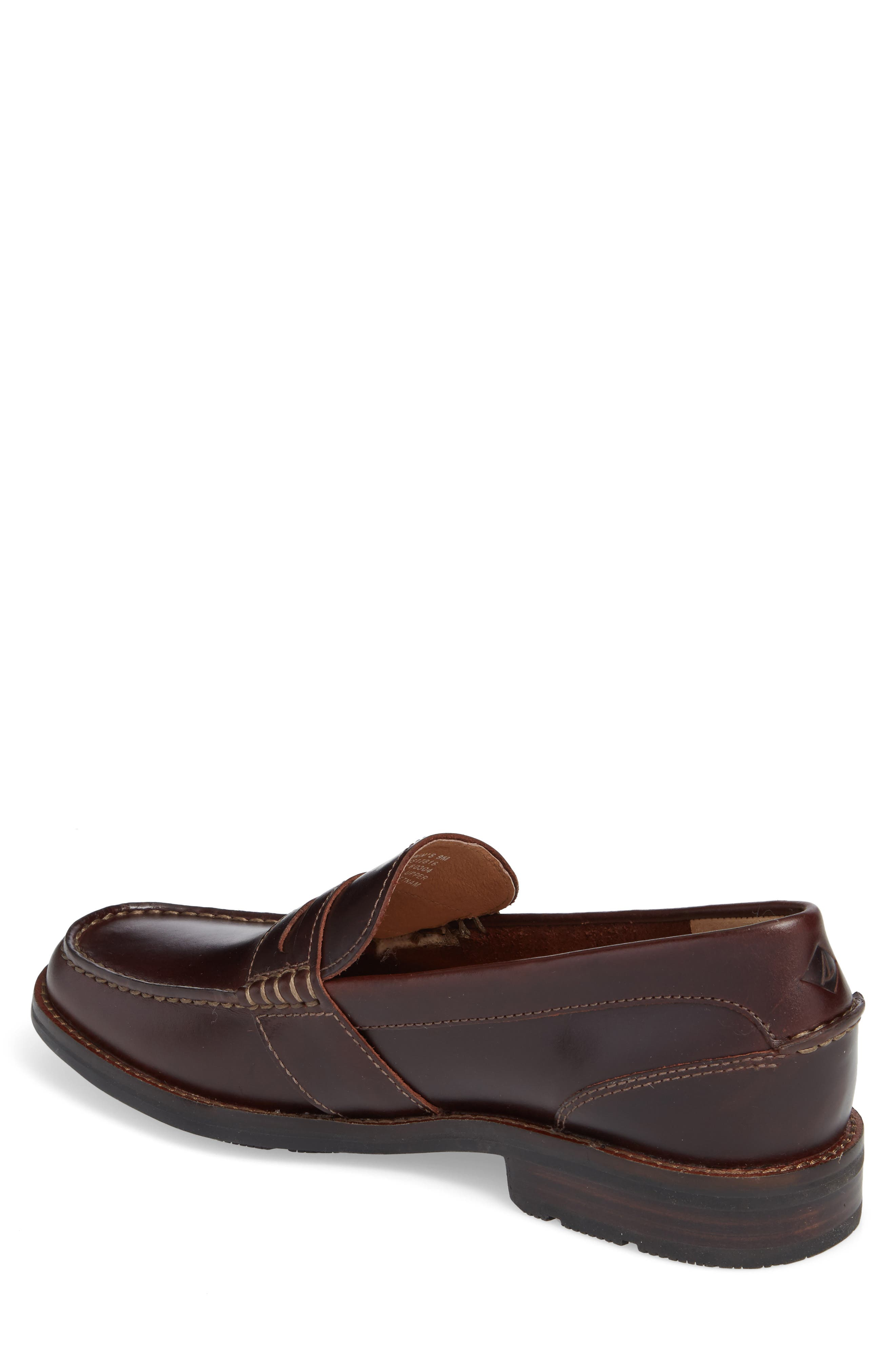 Essex Penny Loafer,                             Alternate thumbnail 2, color,                             AMARETTO LEATHER