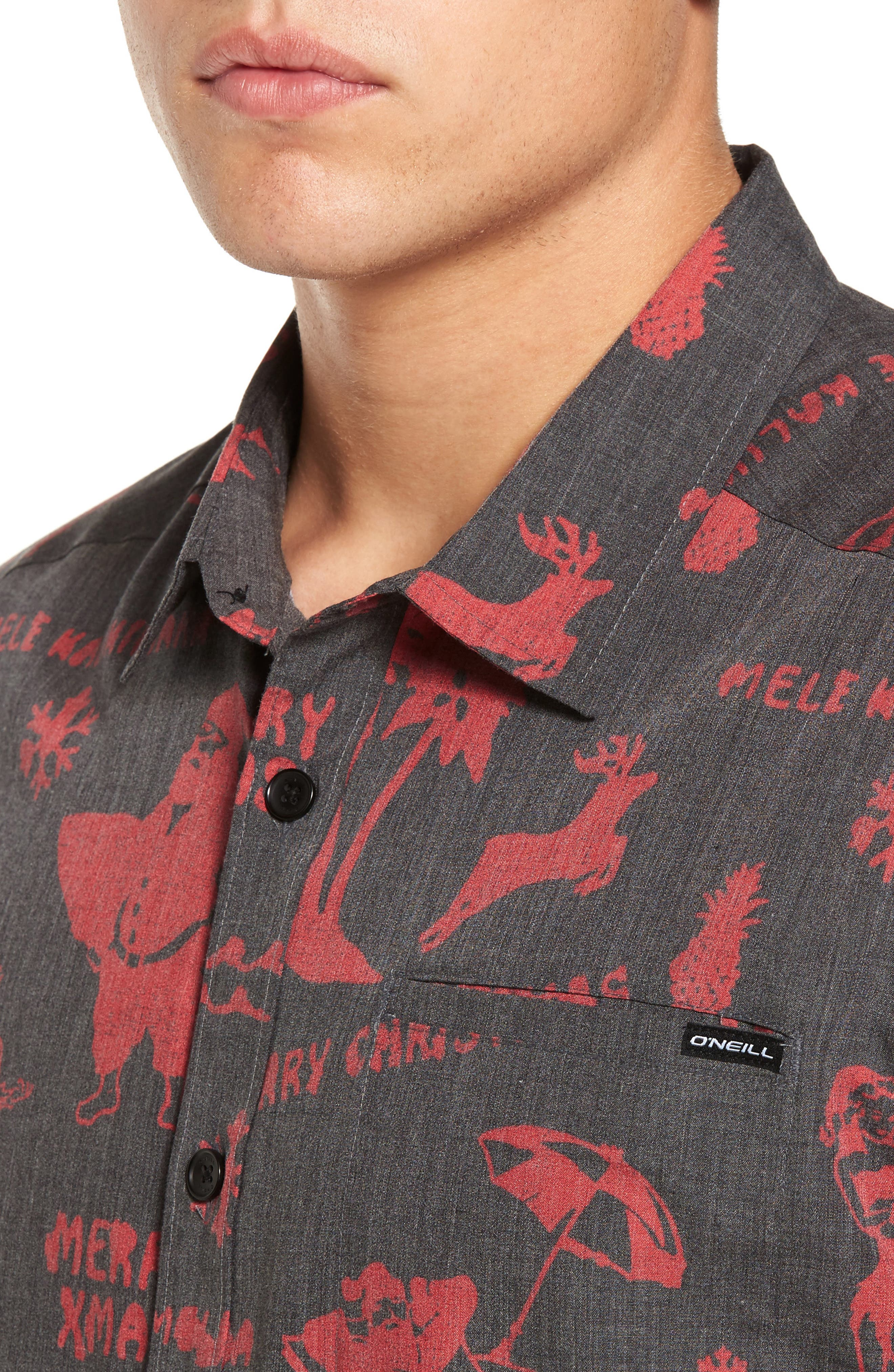 Frost Woven Sport Shirt,                             Alternate thumbnail 4, color,                             001