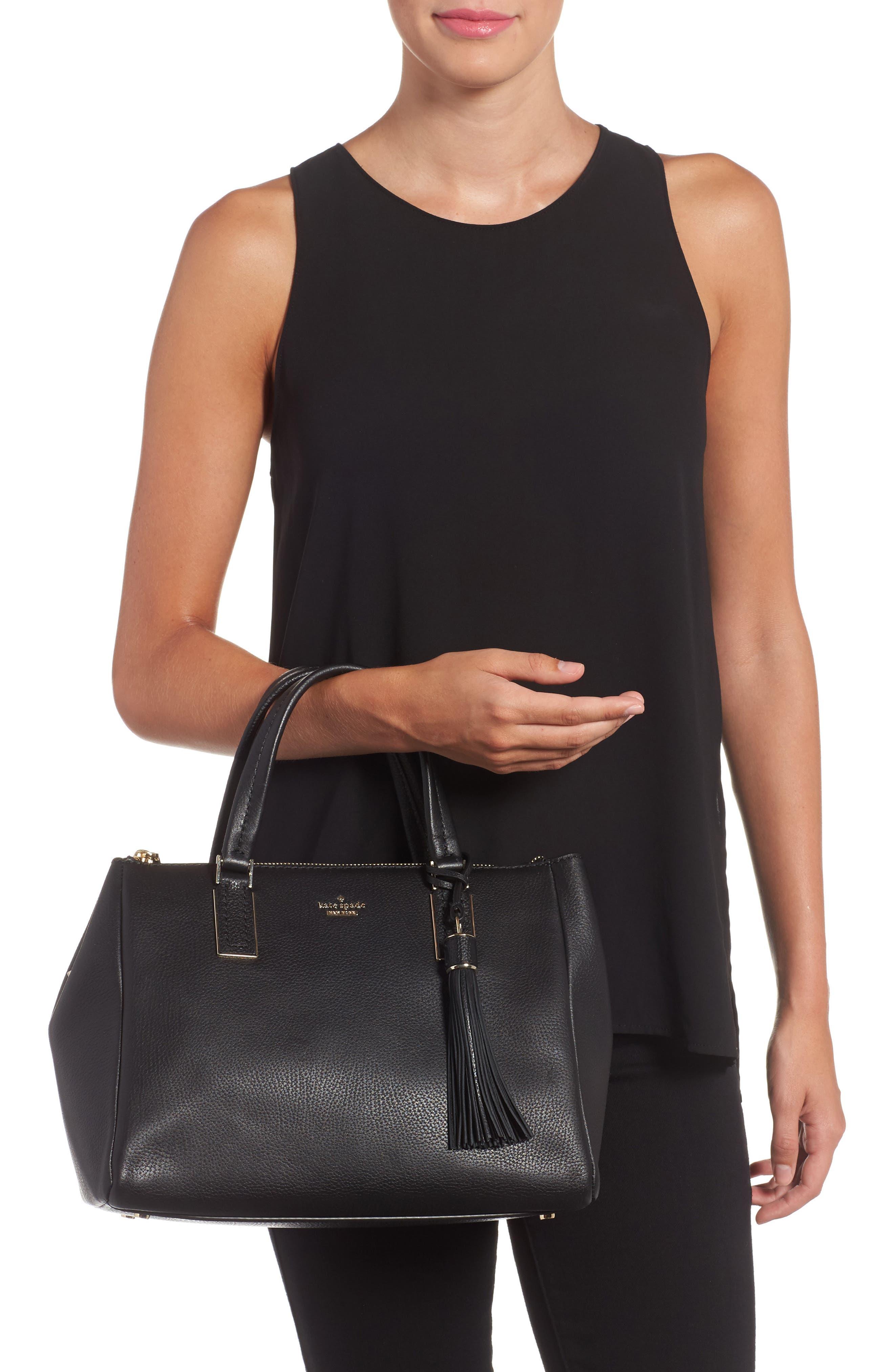 kingston drive - alena leather satchel,                             Alternate thumbnail 2, color,                             001