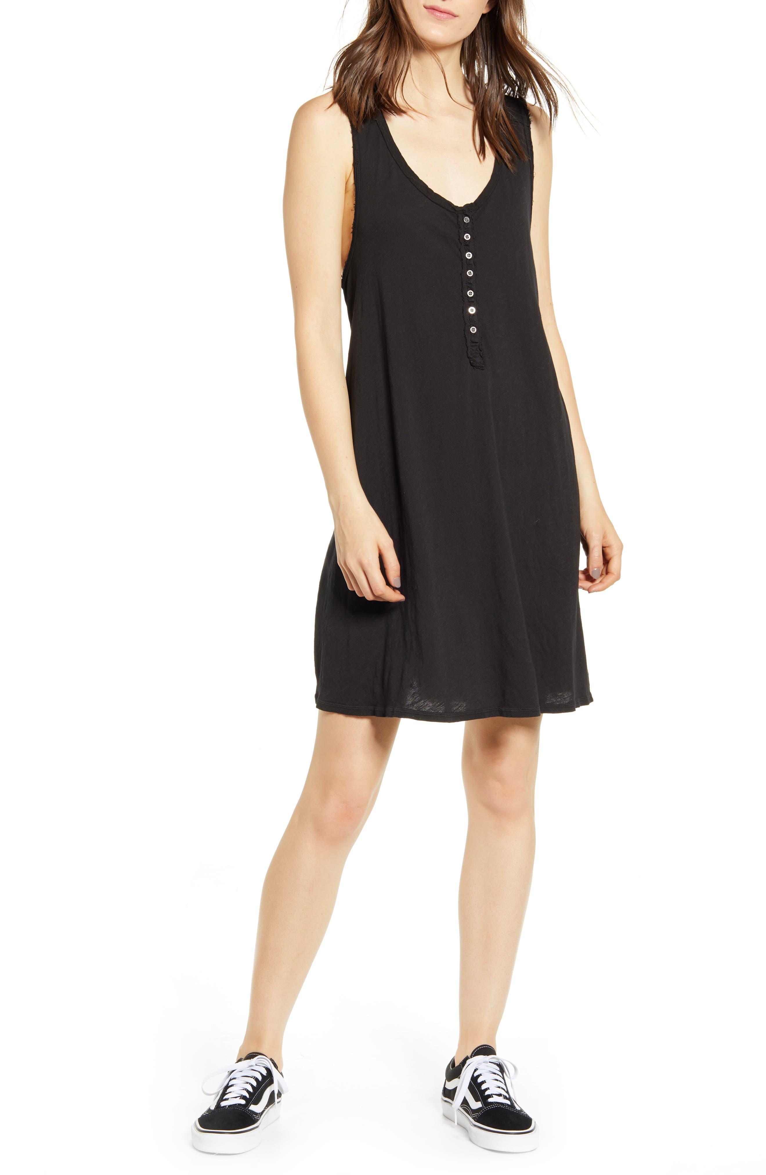 Billabong Last Call Cotton Dress, Black