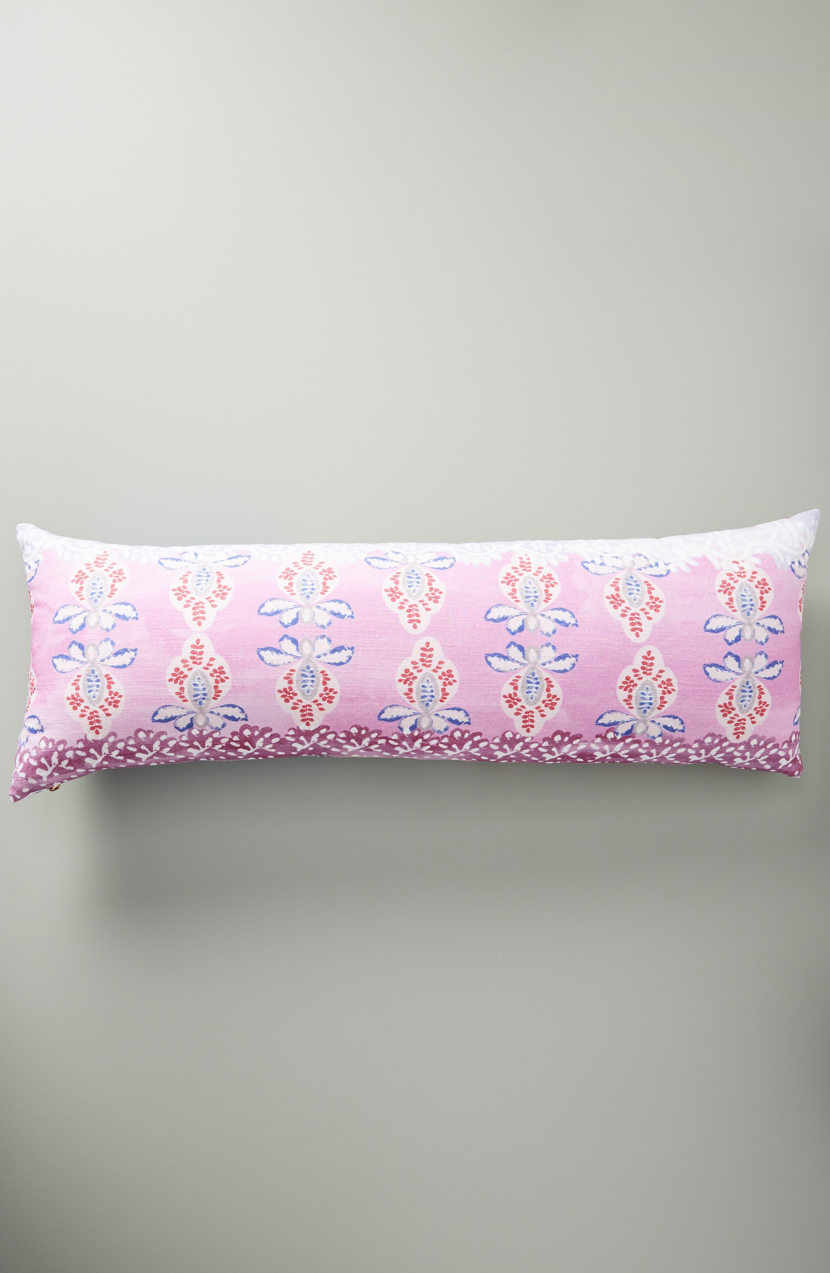 Piper Lumbar Pillow,                             Alternate thumbnail 2, color,                             PERIWINKLE