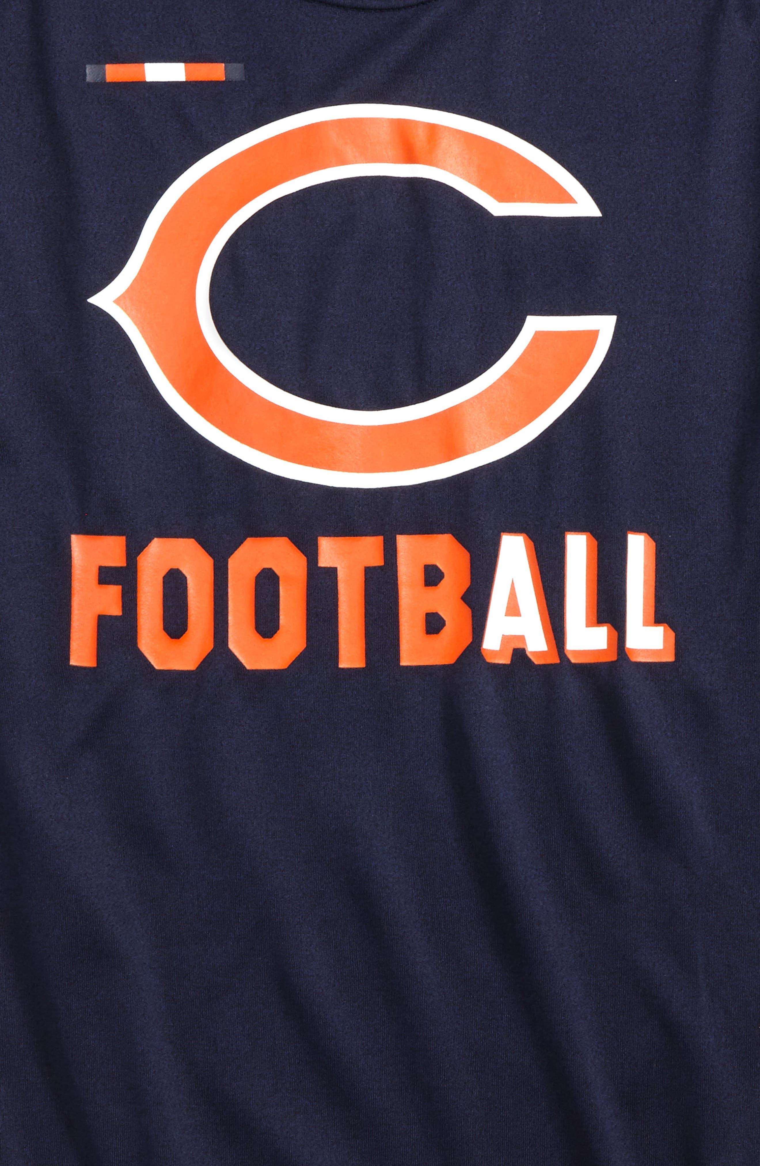 Nike NFL - Chicago Bears Dry T-Shirt,                             Alternate thumbnail 2, color,