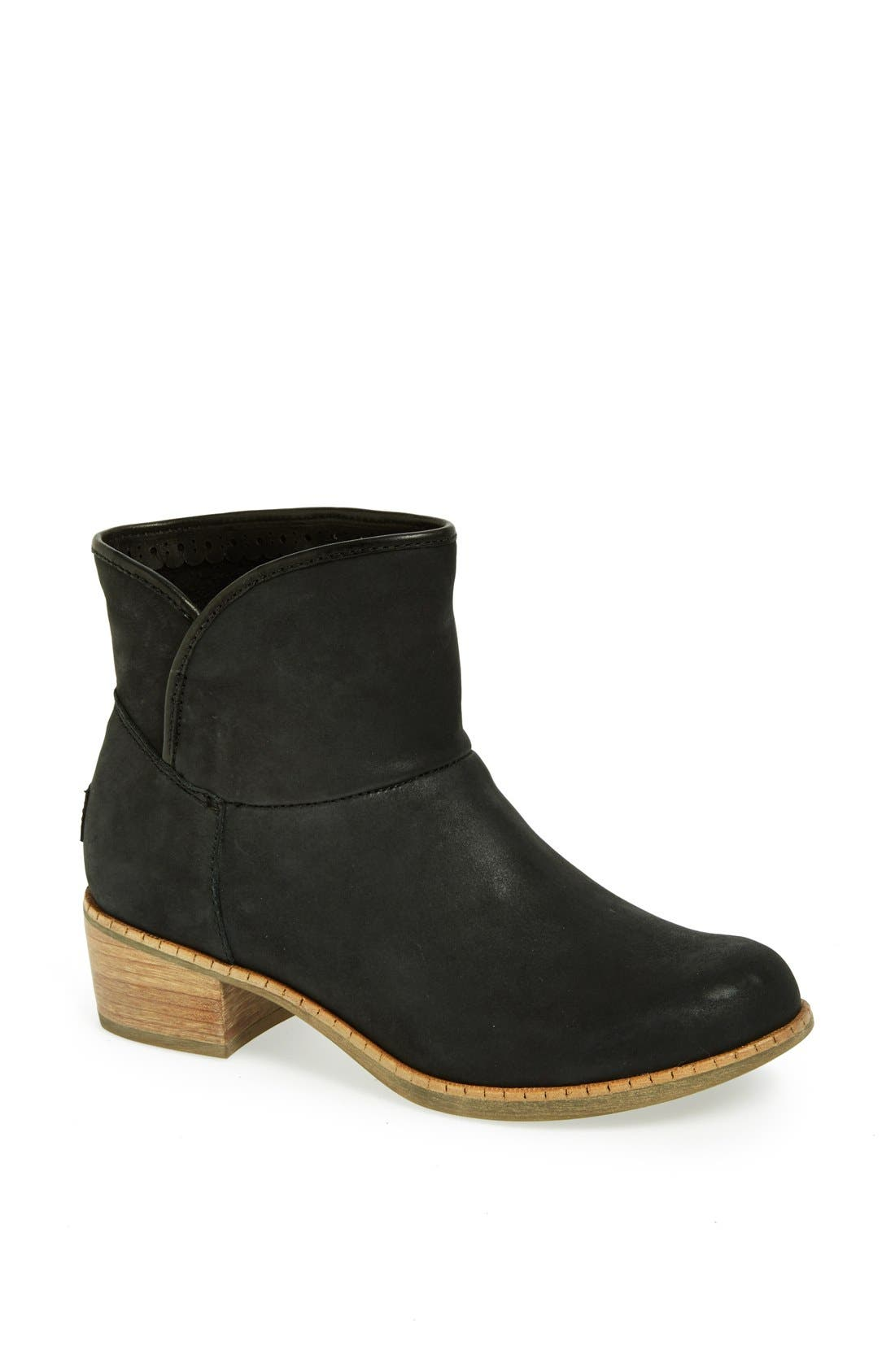 UGG<SUP>®</SUP> Australia 'Darling' Suede Bootie, Main, color, 001