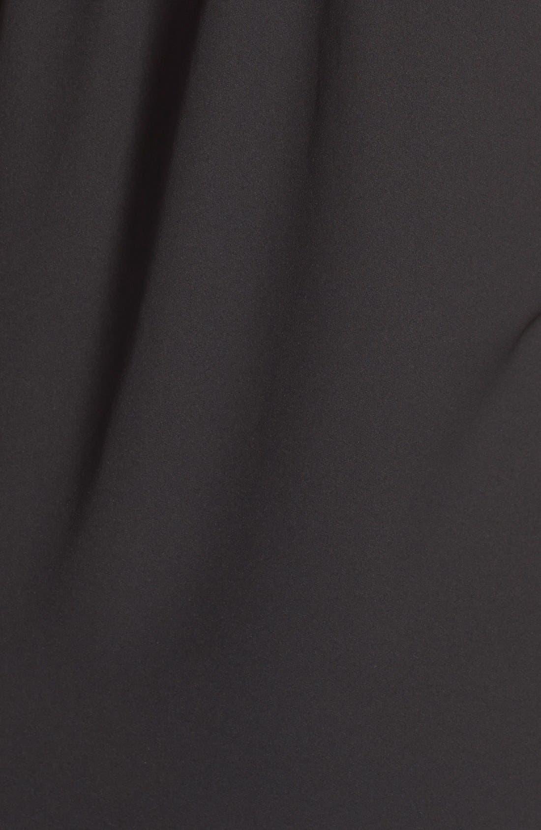 'Cybelle' Maternity/Nursing Shirtdress,                             Alternate thumbnail 5, color,                             BLACK