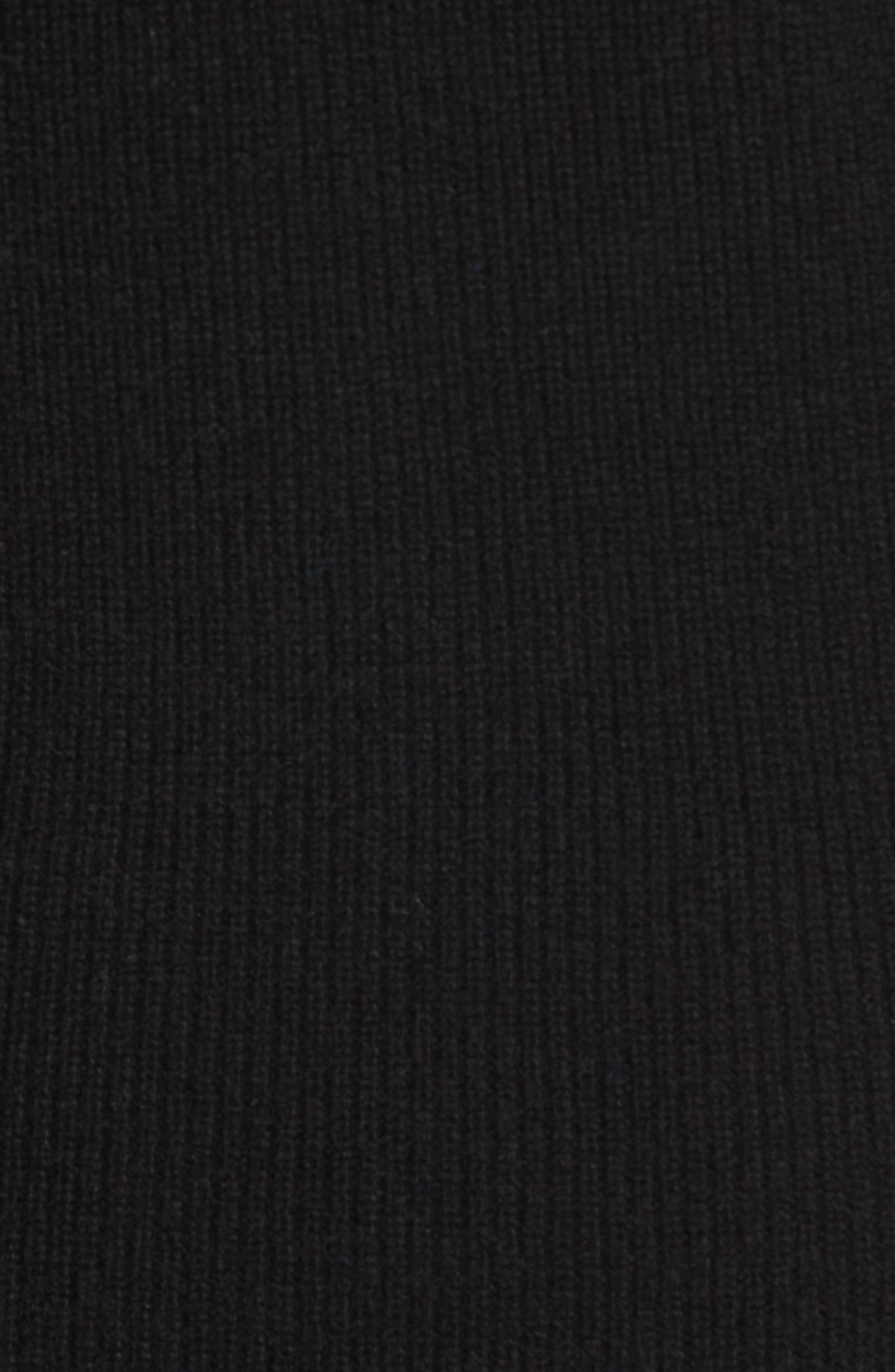 Cashmere Puff Sleeve Turtleneck,                             Alternate thumbnail 5, color,                             BLACK