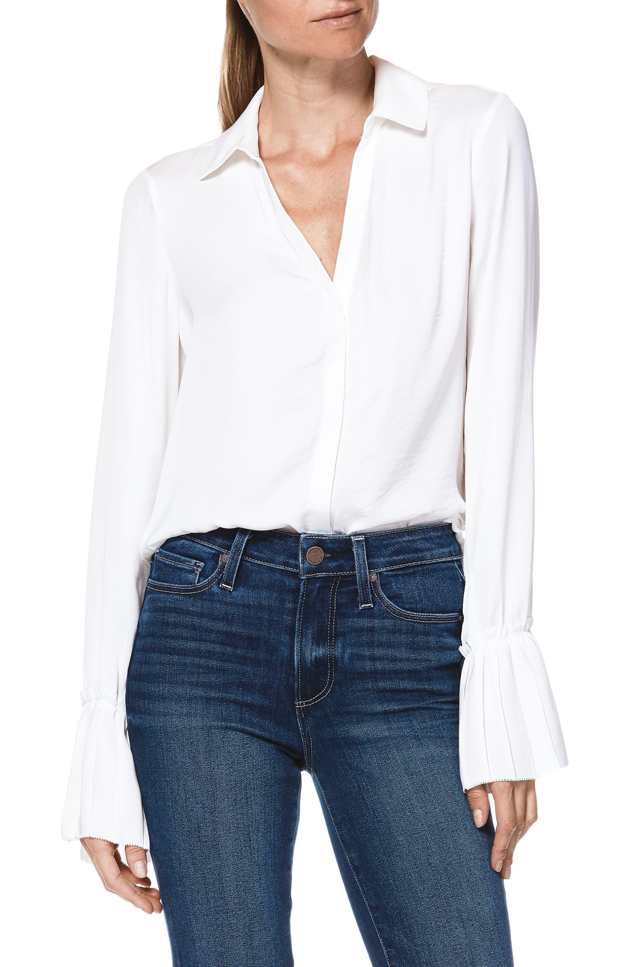 Abriana Shirt,                             Alternate thumbnail 4, color,                             WHITE