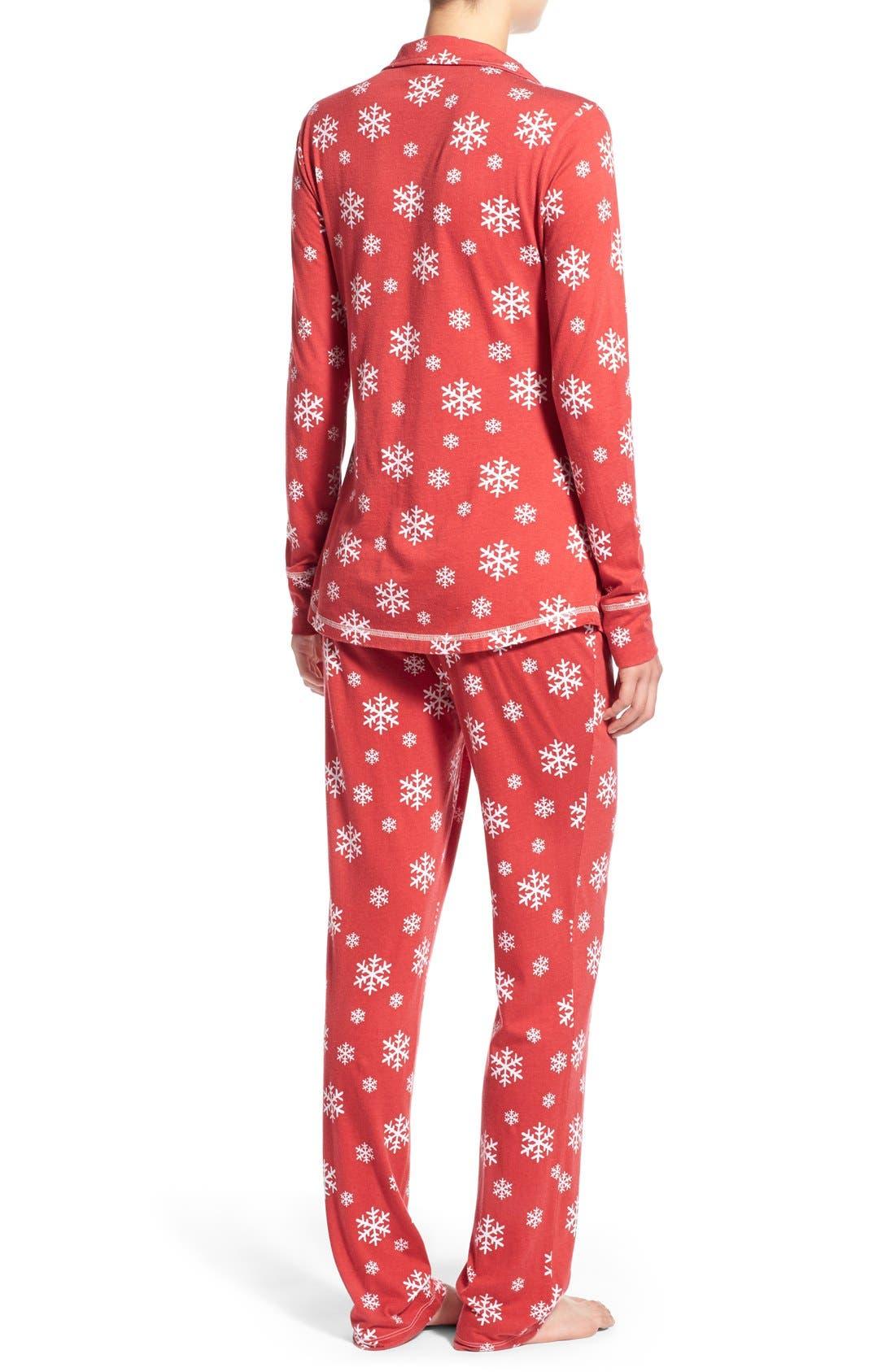 'Cassie' Supima<sup>®</sup> Cotton & Modal Pajamas,                             Alternate thumbnail 4, color,                             600