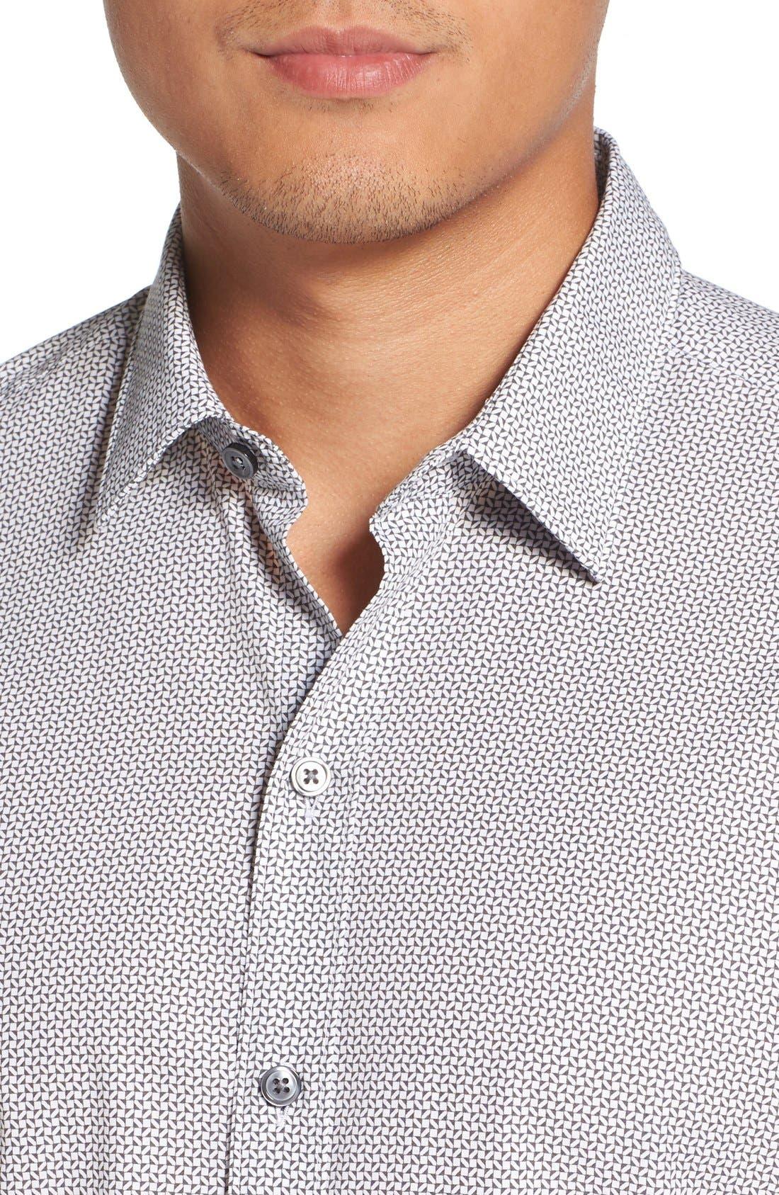 'Robbie' Sharp Fit Graphic Print Sport Shirt,                             Alternate thumbnail 4, color,                             069