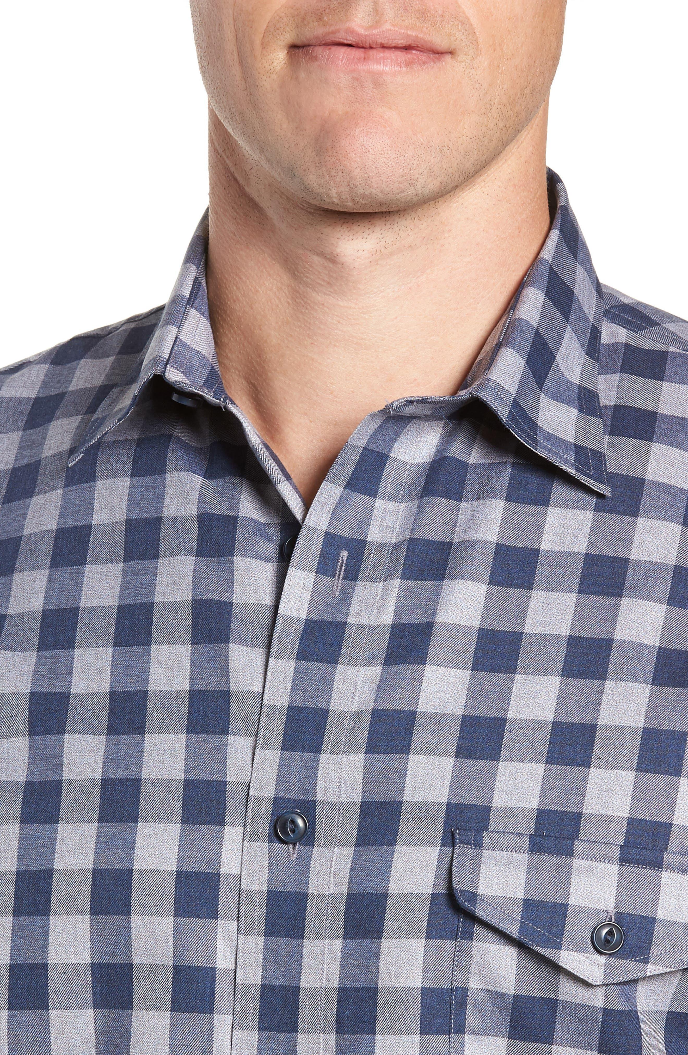 Regular Fit Non-Iron Check Sport Shirt,                             Alternate thumbnail 2, color,                             420