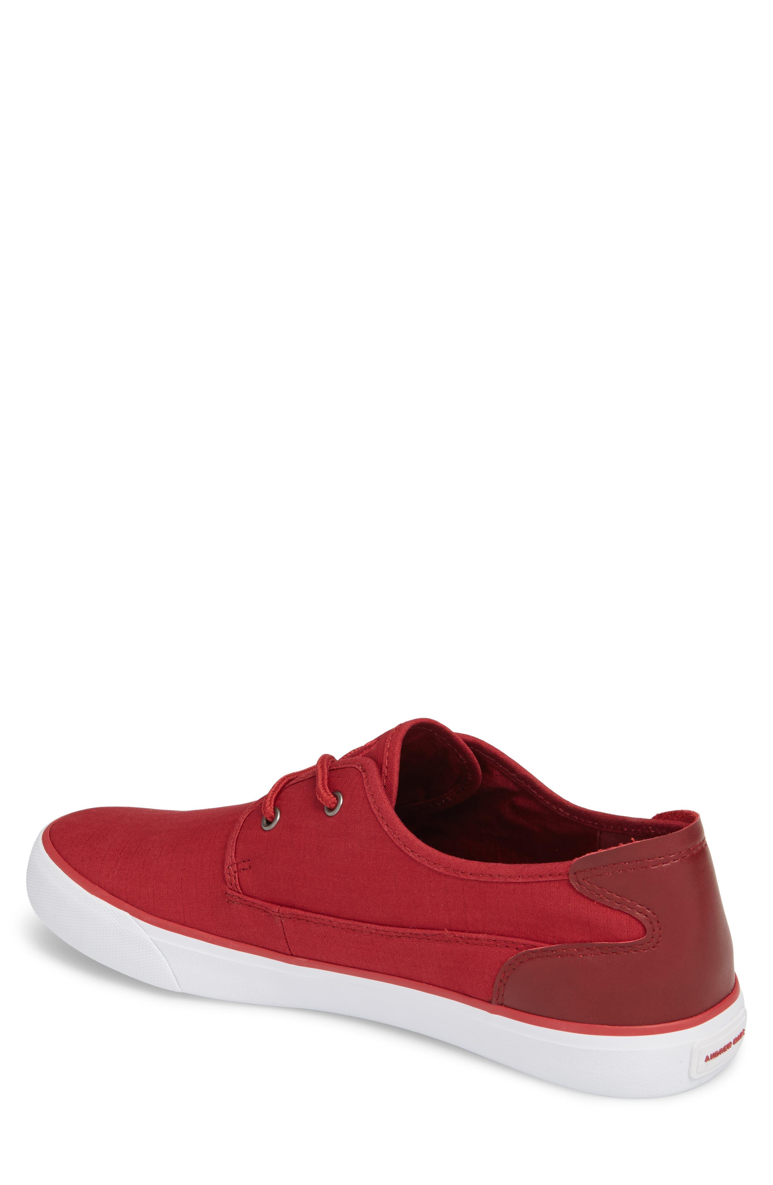 Morris Sneaker,                             Alternate thumbnail 2, color,                             RED/ WHITE