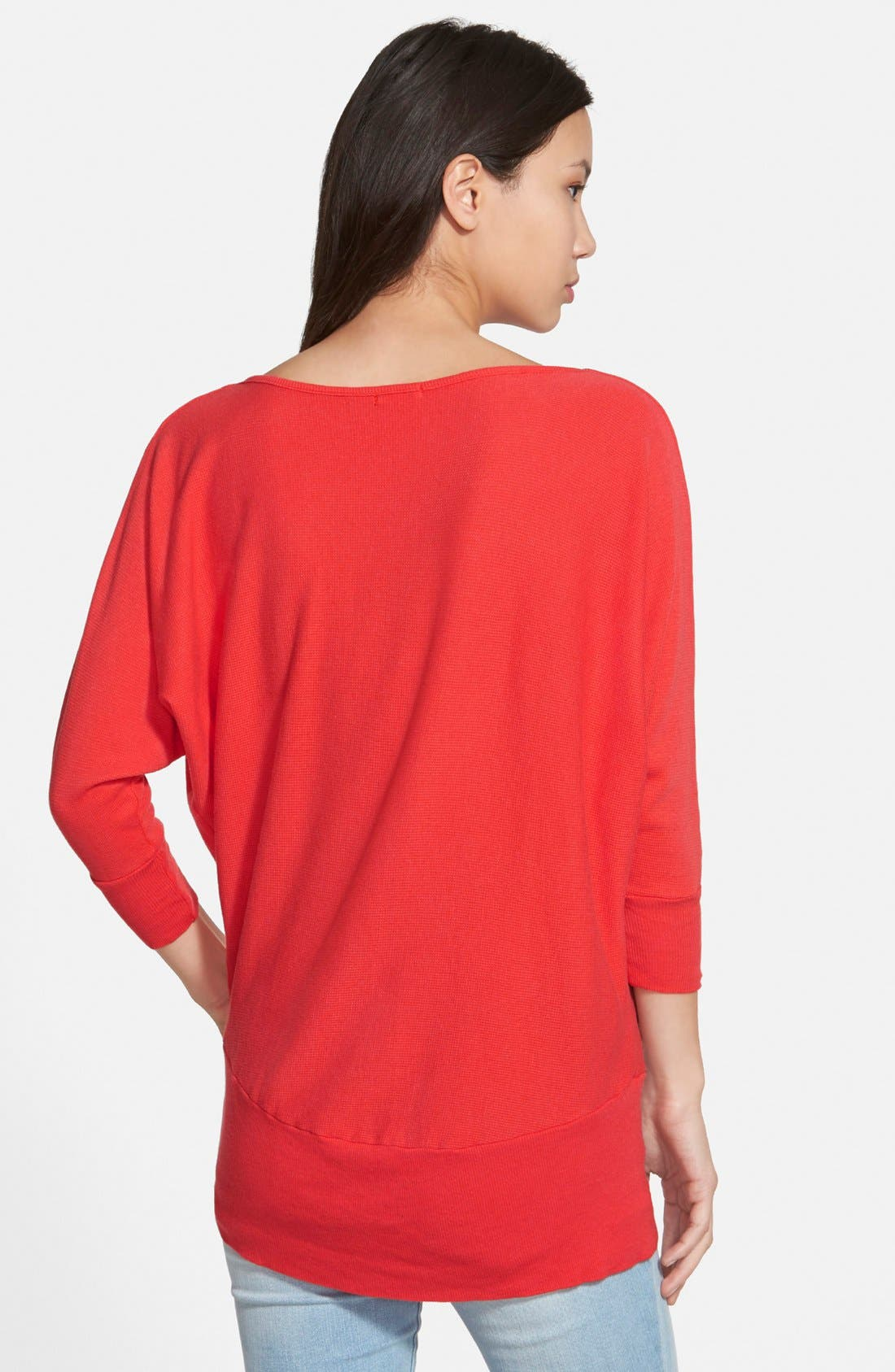 'Aidan' Drape Neck Thermal Top,                             Alternate thumbnail 18, color,