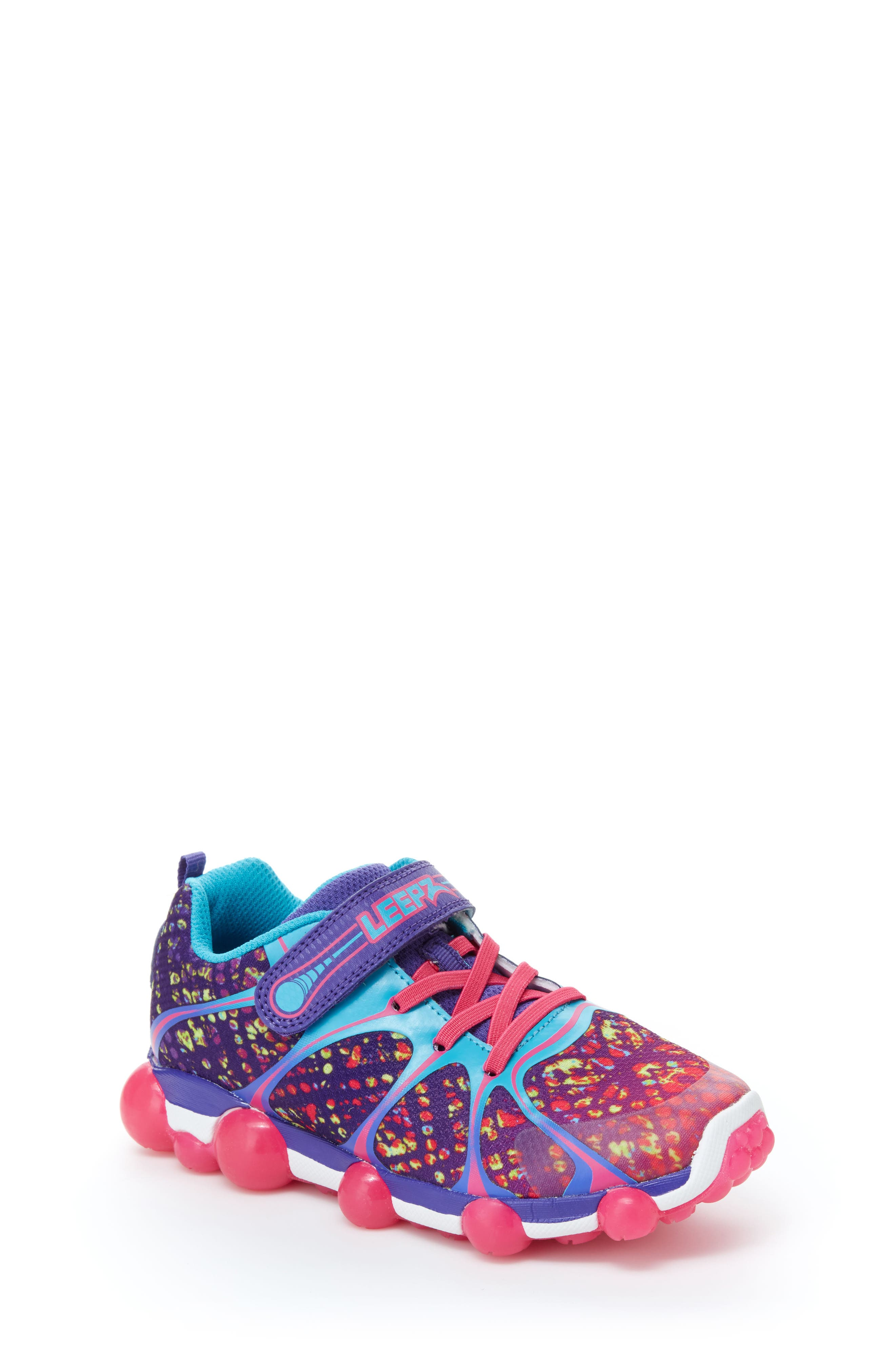 STRIDE RITE 'Leepz' Light-Up Sneaker, Main, color, 540