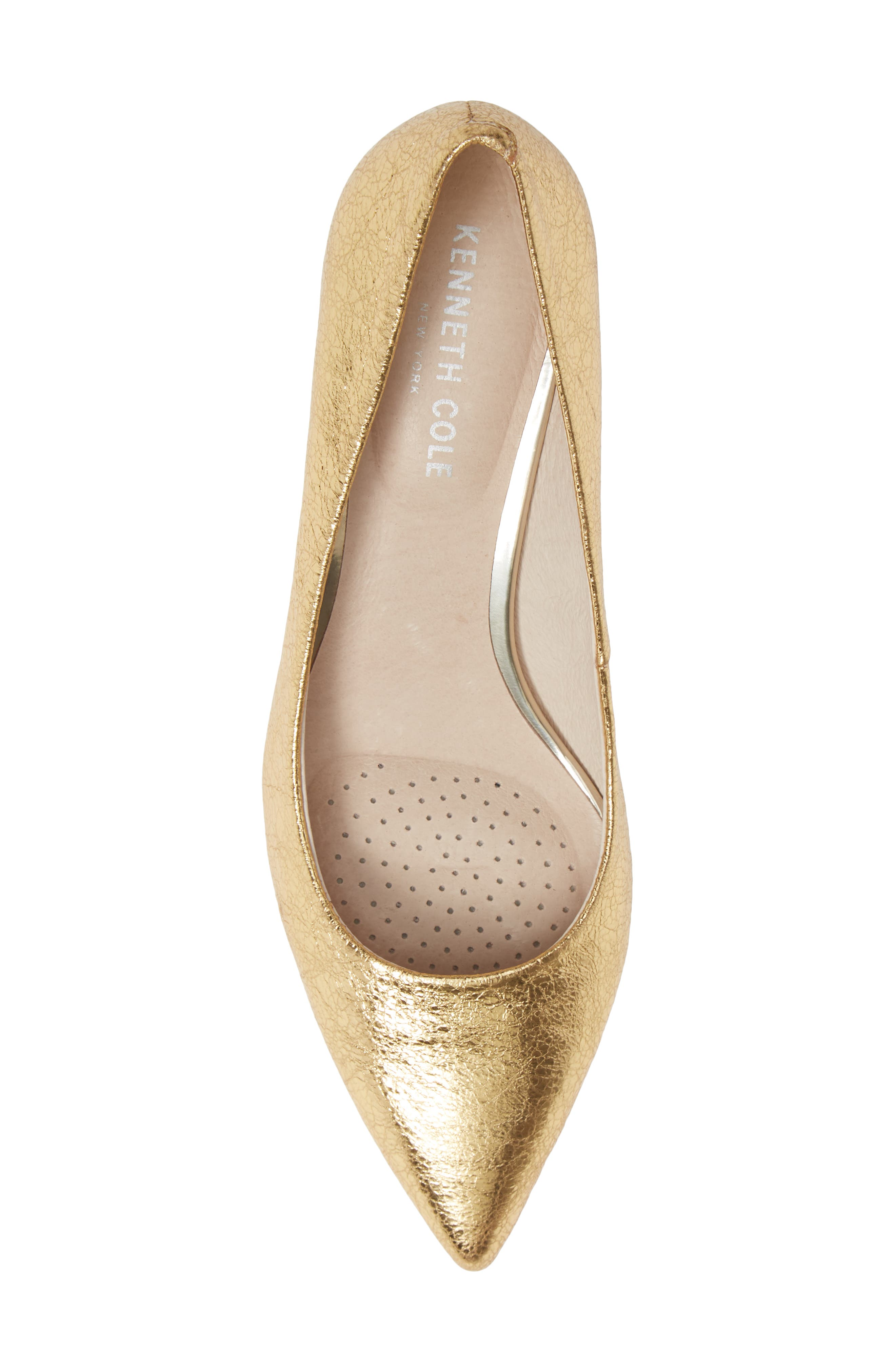 Riley 50 Pump,                             Alternate thumbnail 5, color,                             YELLOW GOLD LEATHER