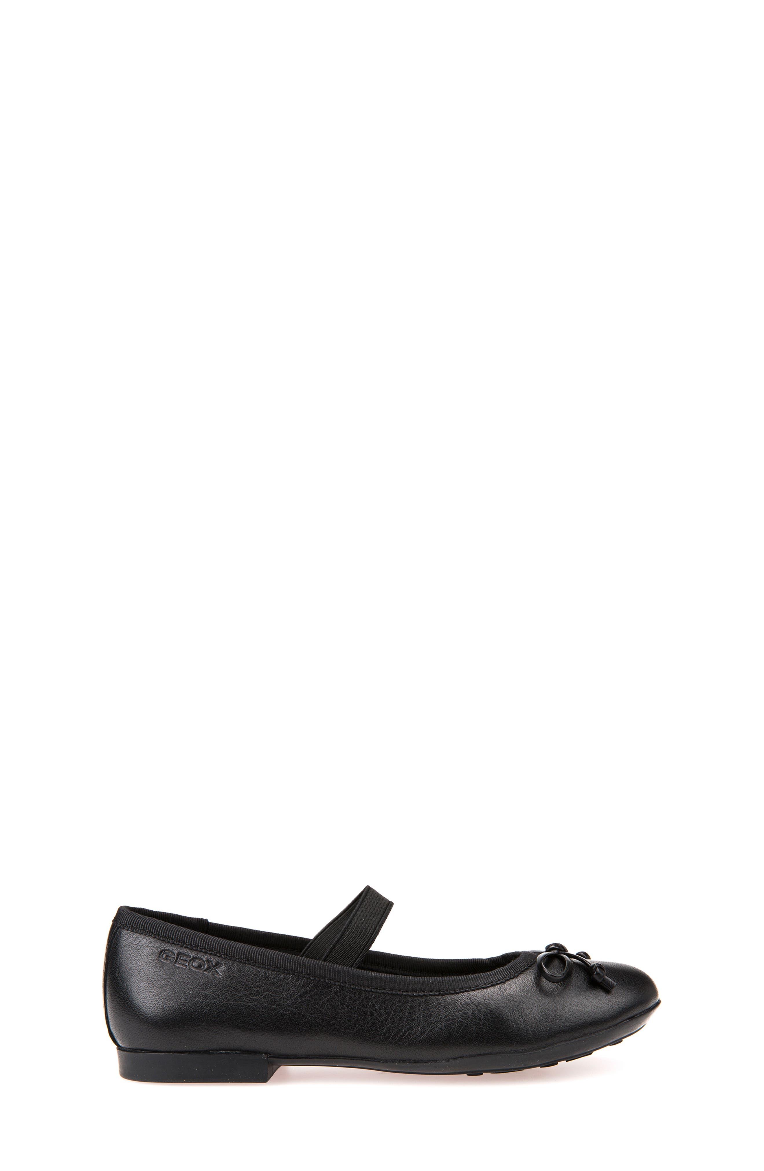Plie Leather Ballet Flat,                             Alternate thumbnail 3, color,                             BLACK