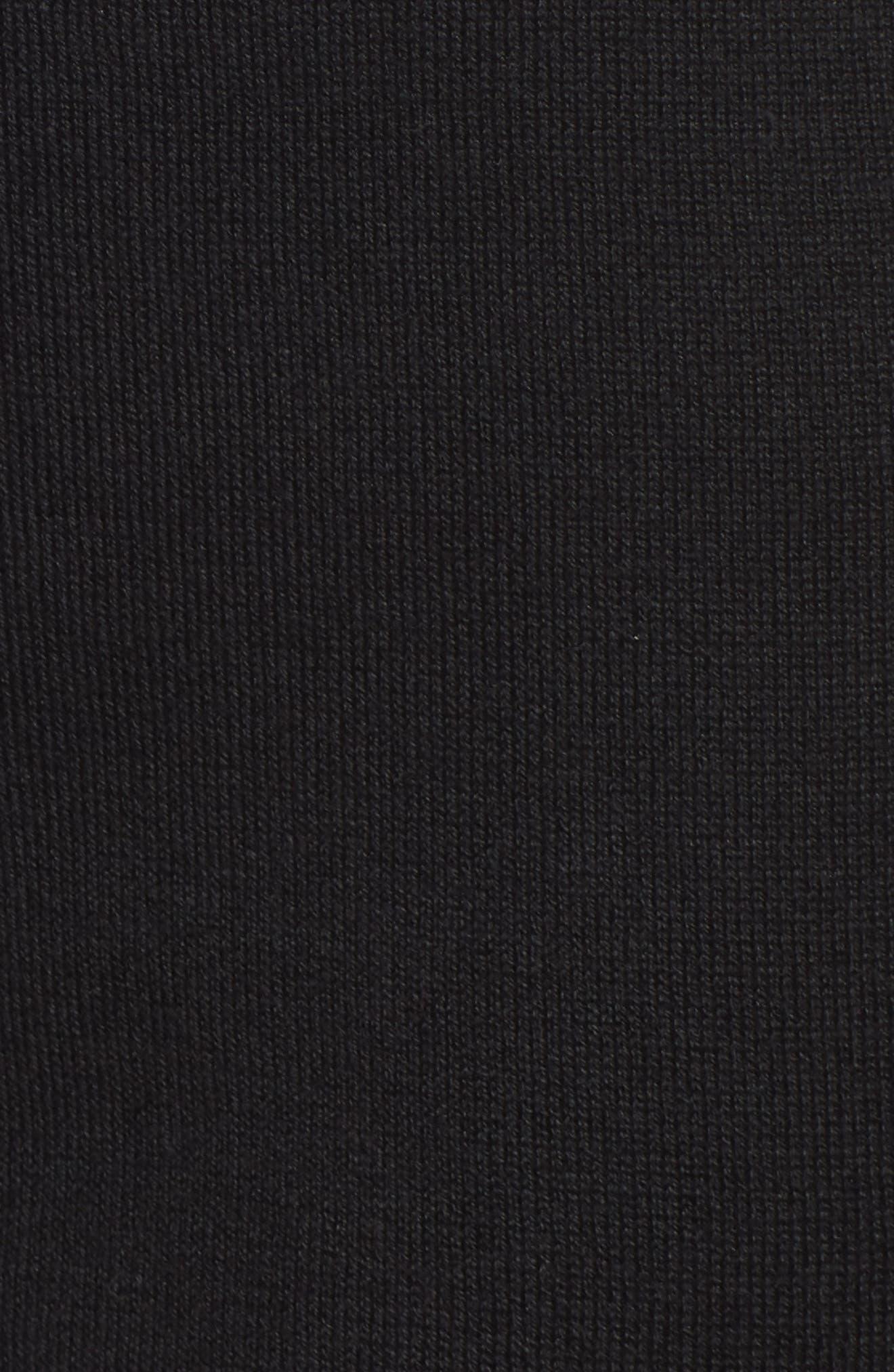 Knit Ankle Pants,                             Alternate thumbnail 6, color,                             BLACK