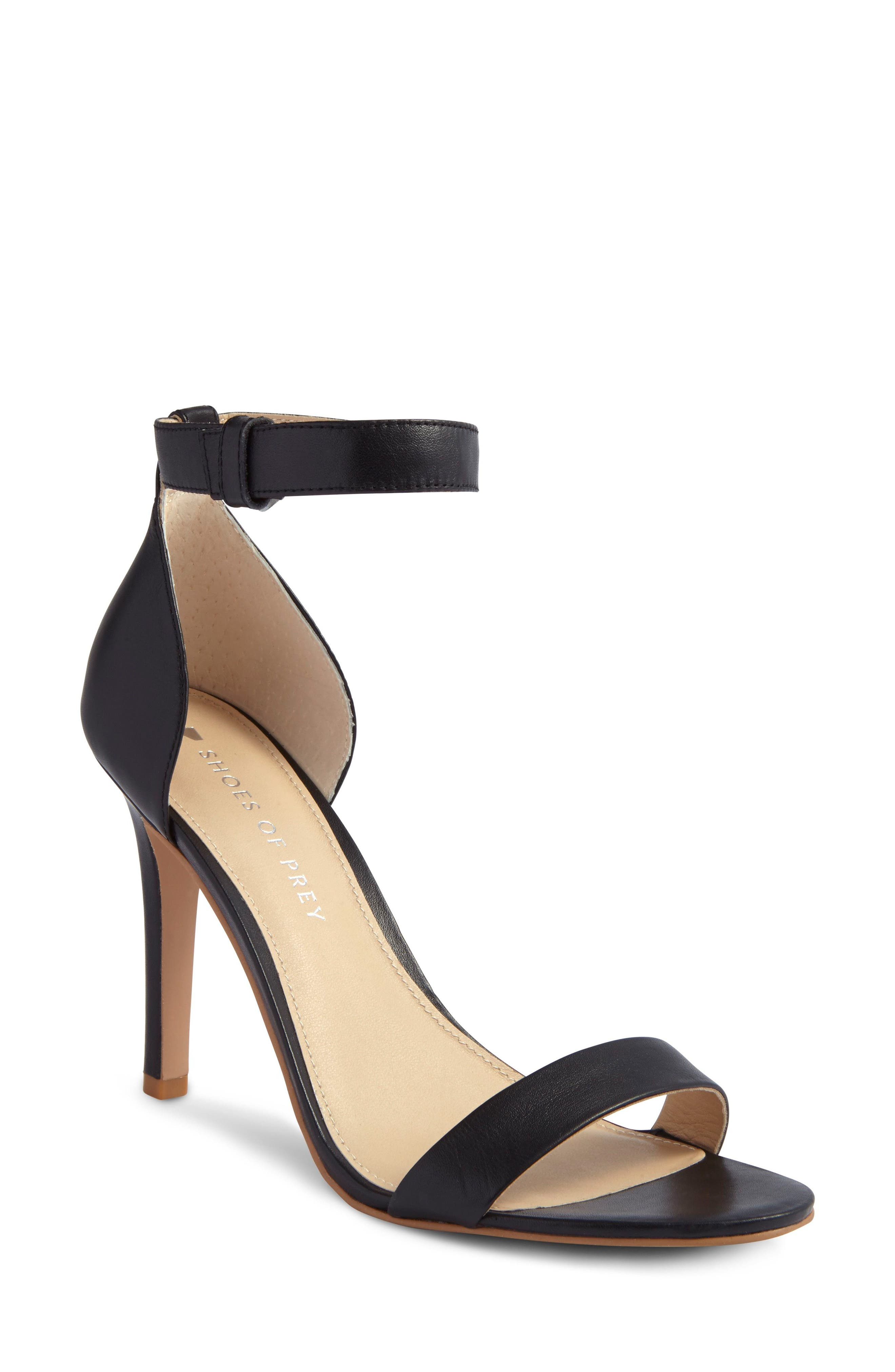 Ankle Strap Sandal,                             Main thumbnail 1, color,                             001