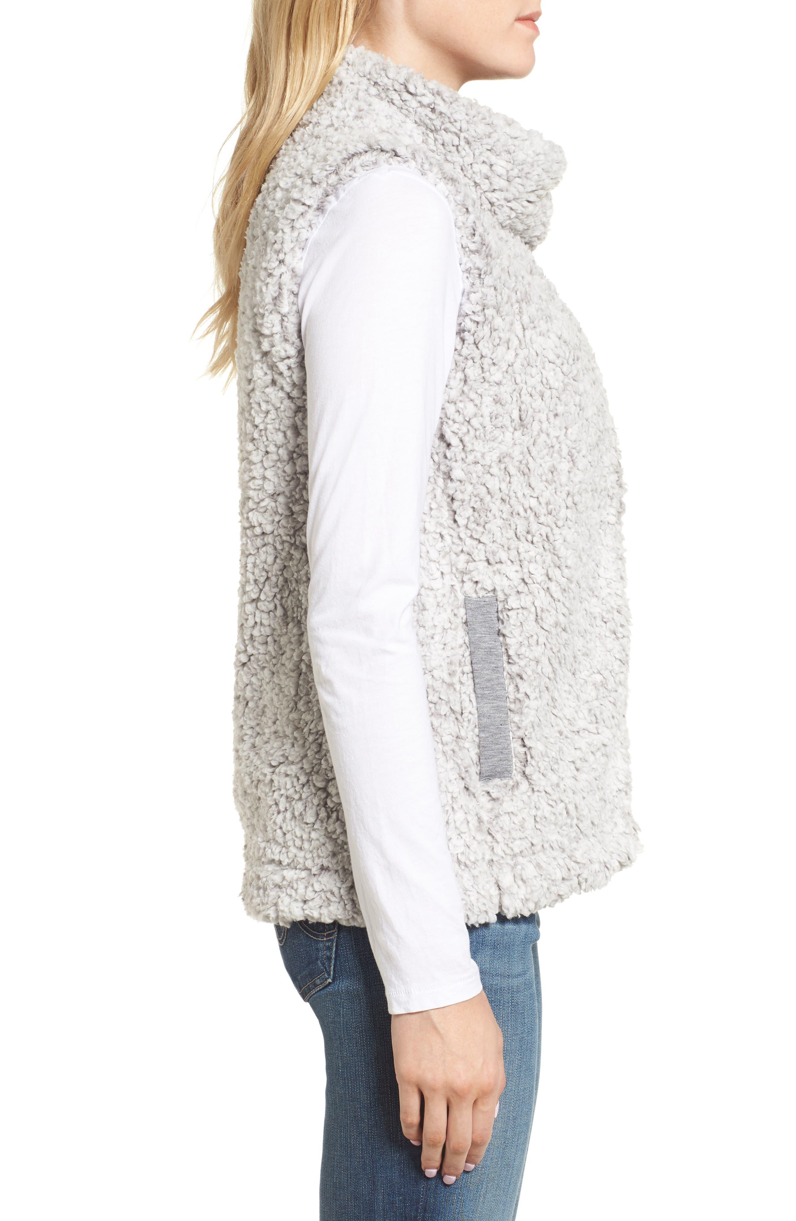 Frosty High Pile Fleece Vest,                             Alternate thumbnail 3, color,                             063