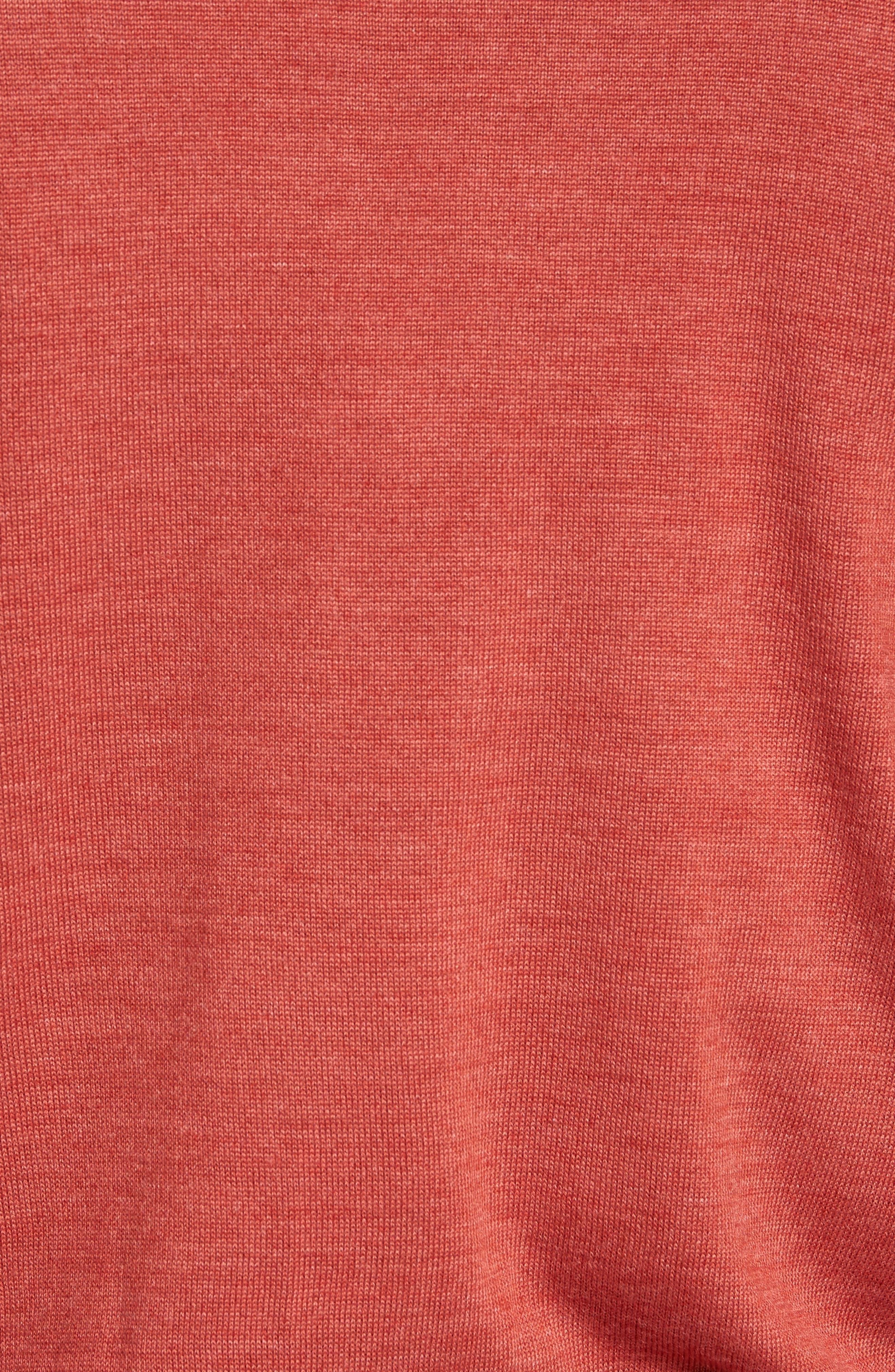 Douglas Quarter Zip Wool Blend Sweater,                             Alternate thumbnail 5, color,                             600