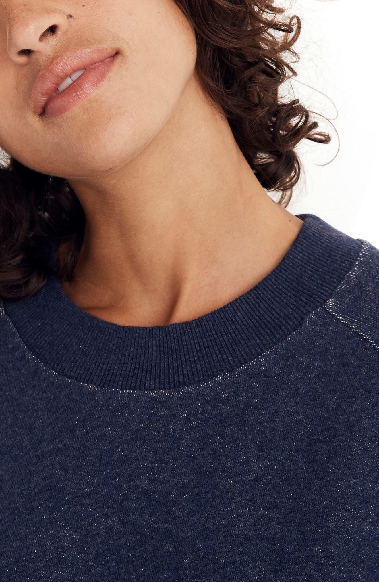 Bubble Sleeve Sweatshirt Dress,                             Alternate thumbnail 4, color,                             400