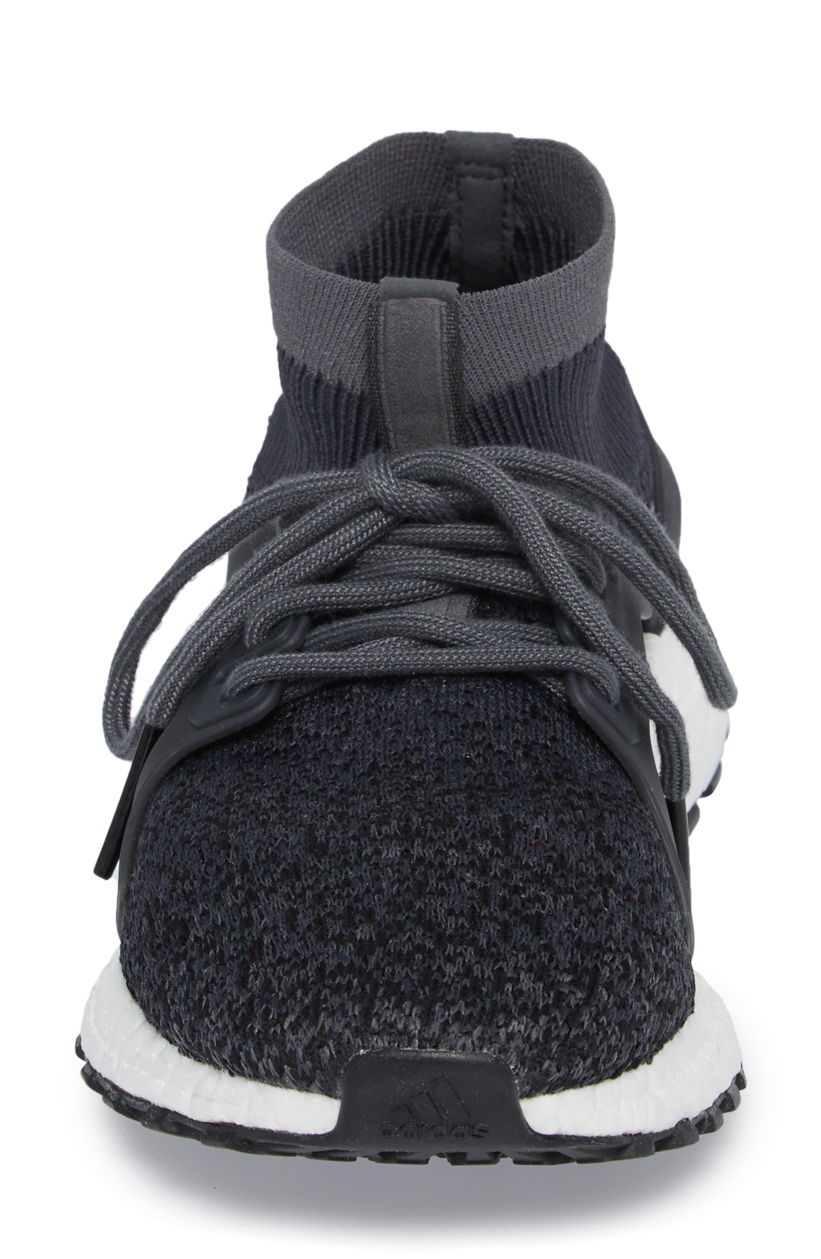 UltraBoost X All Terrain Water Resistant Running Shoe,                             Alternate thumbnail 4, color,                             001