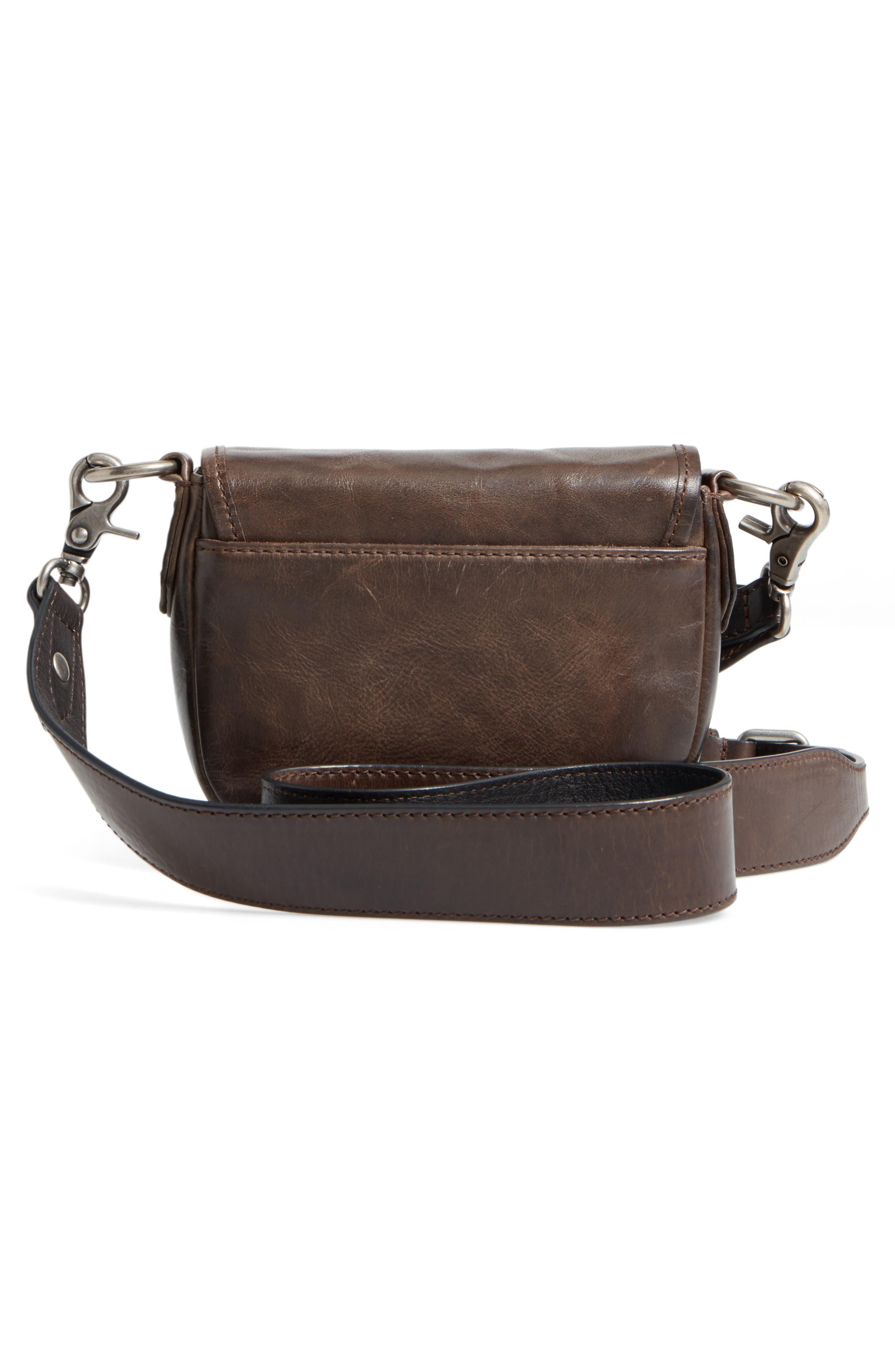 Mini Melissa Whipstitch Leather Saddle Bag,                             Alternate thumbnail 3, color,                             203