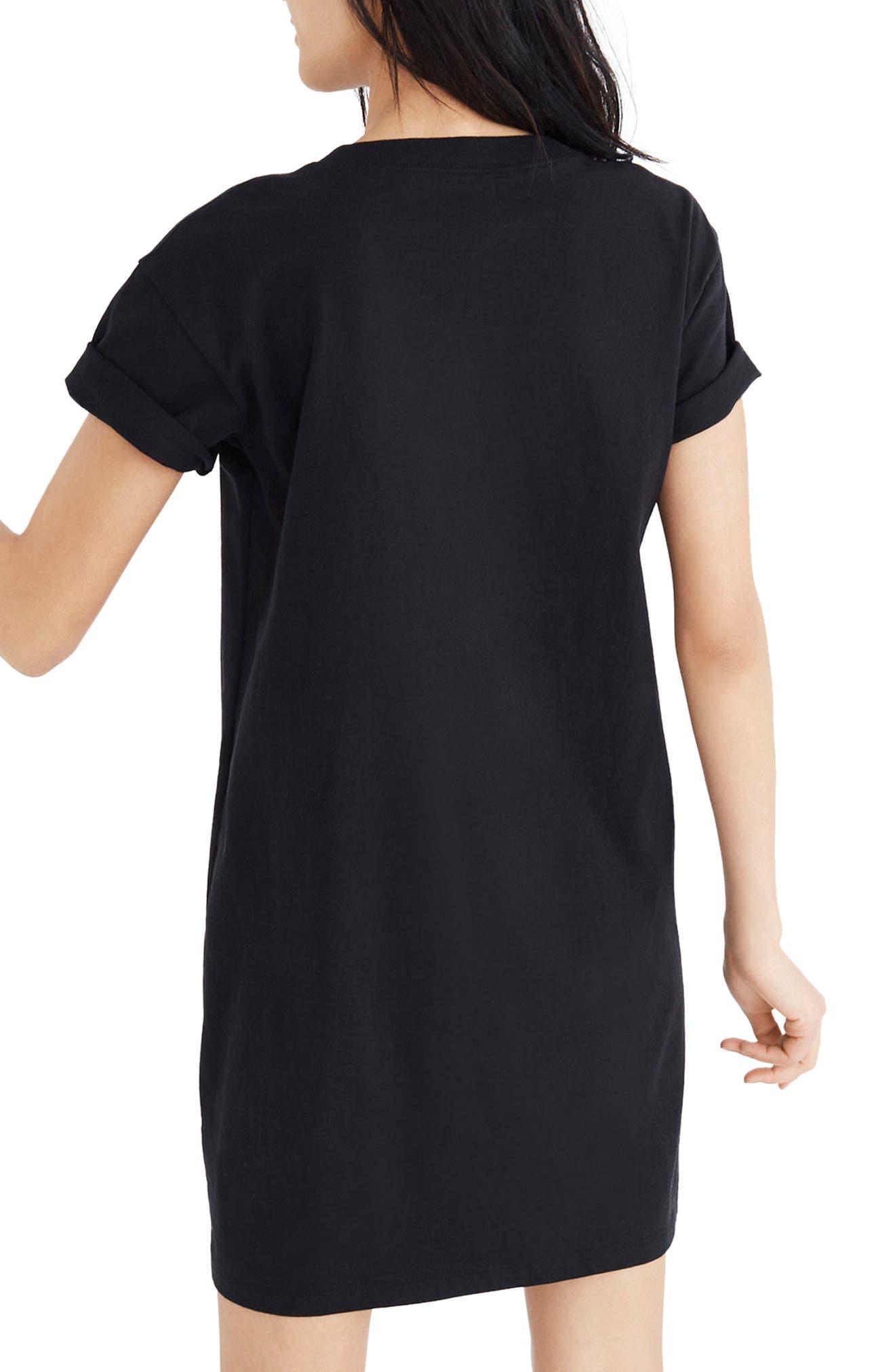 Pocket T-Shirt Dress,                             Alternate thumbnail 2, color,                             001