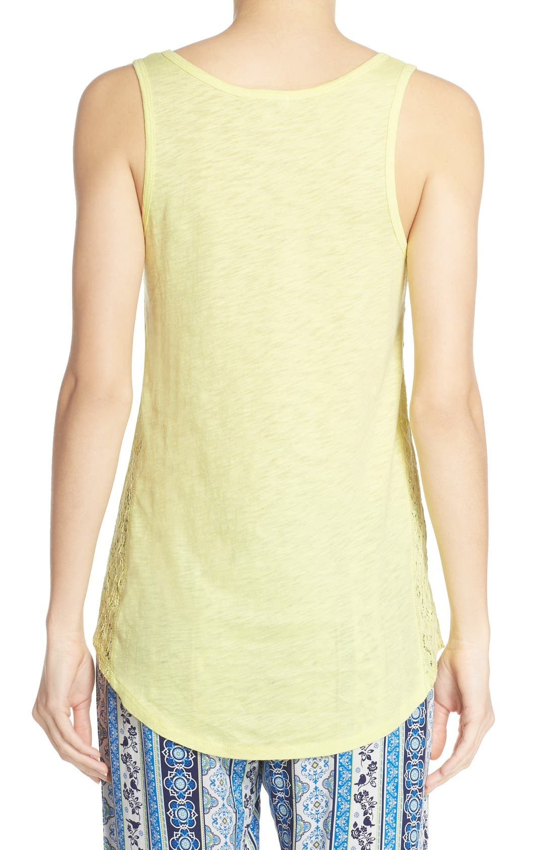 Lace Inset Jersey Tank,                             Alternate thumbnail 5, color,                             325